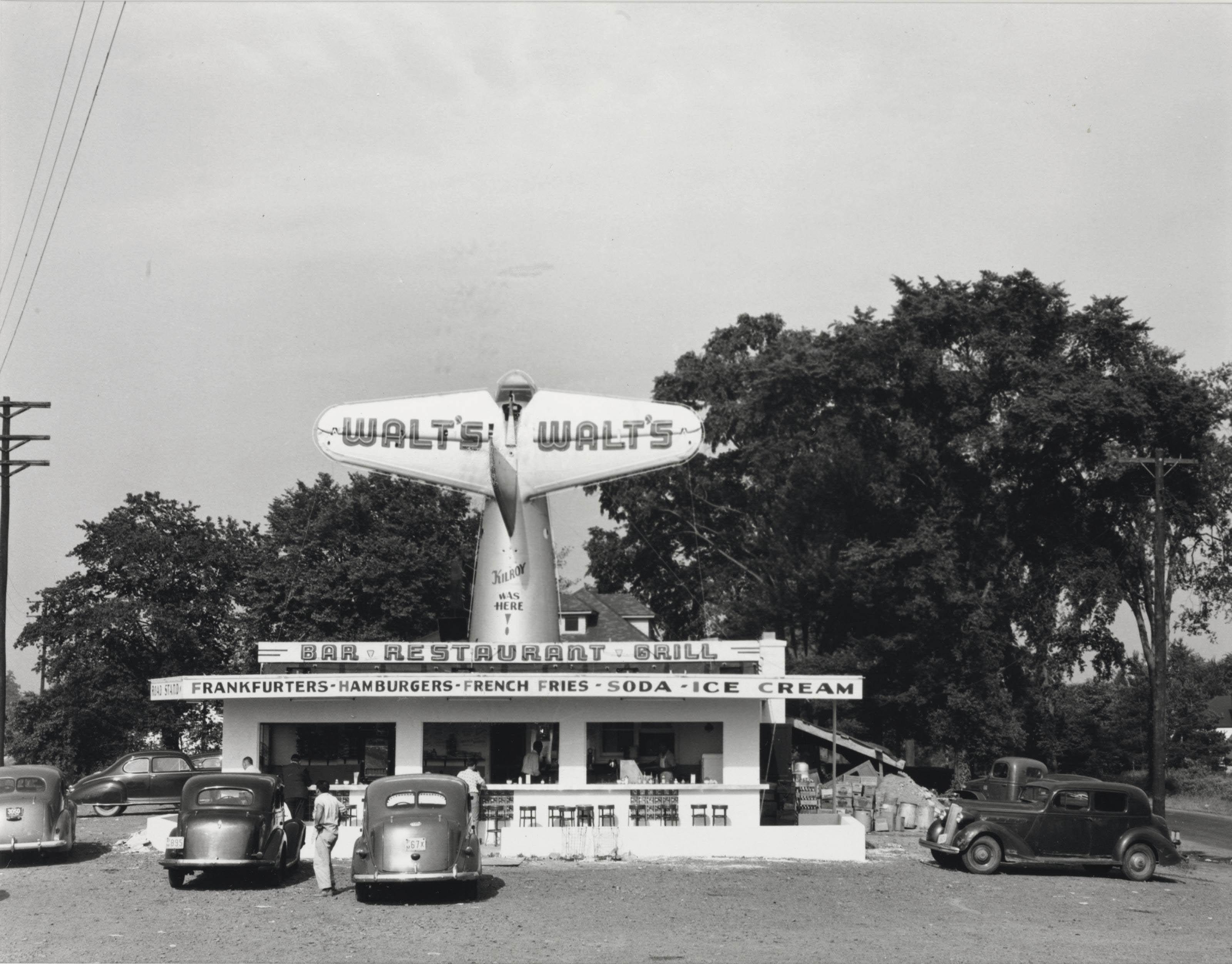 Roadside Diner; and Hub Cap Display, U.S. 1, New Jersey, July 1947