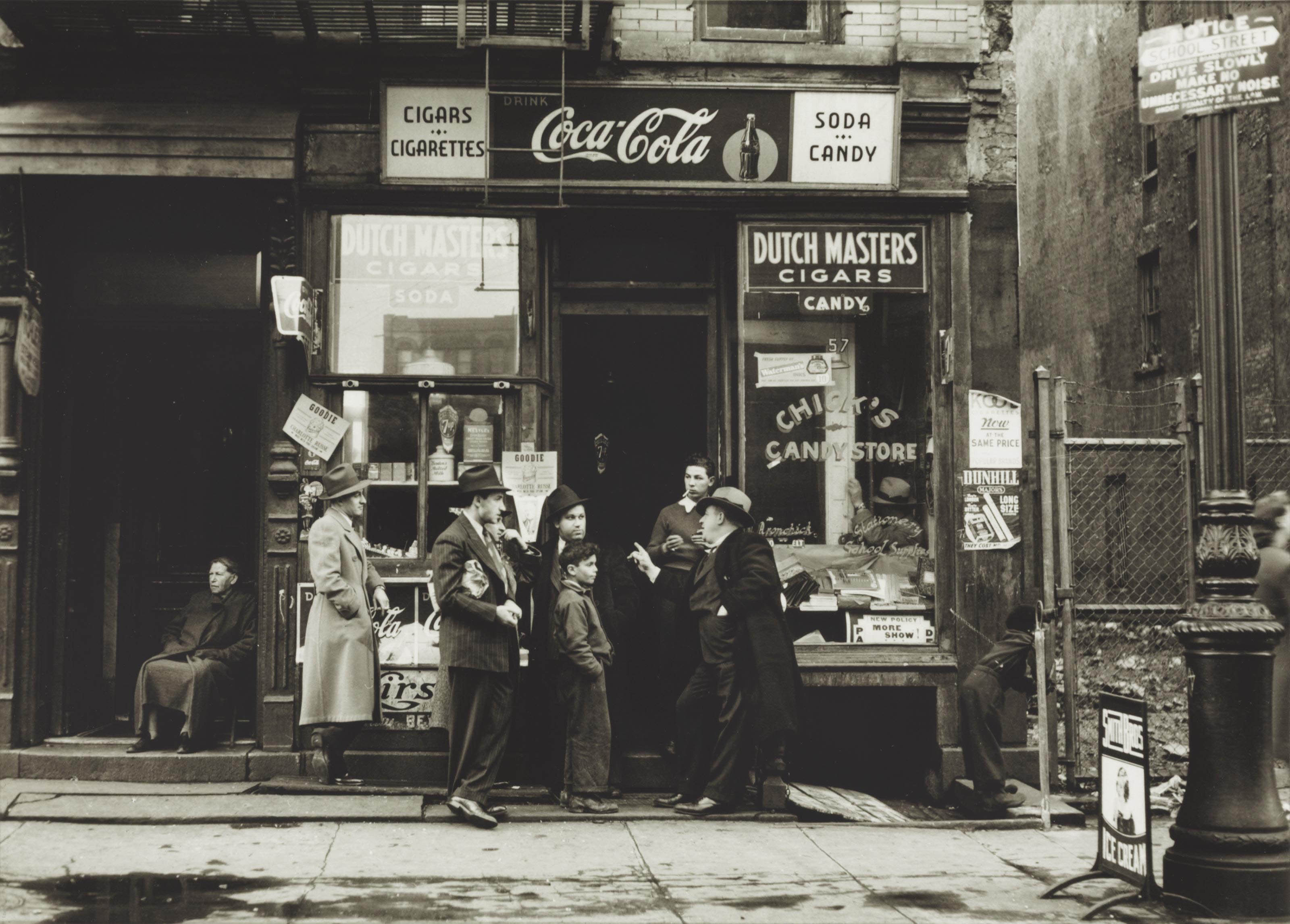 Candy Store; and Pitt Street, N.Y., 1938