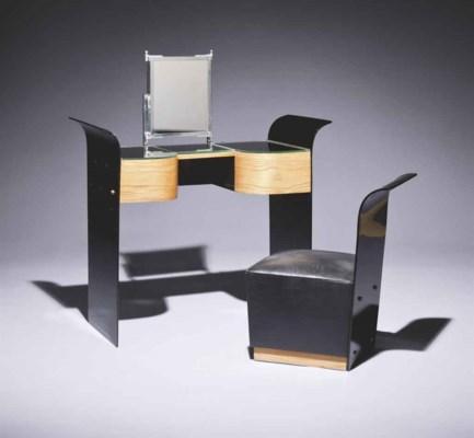 ren coulon 1908 1997 pour les glaceries de saint gobain coiffeuse et son si ge vers 1937. Black Bedroom Furniture Sets. Home Design Ideas