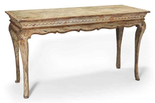 TABLE CONSOLE DE STYLE ROCOCO