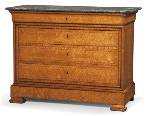 COMMODE D'EPOQUE CHARLES X