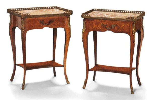 paire de tables de chevet de style louis xv xxeme siecle. Black Bedroom Furniture Sets. Home Design Ideas