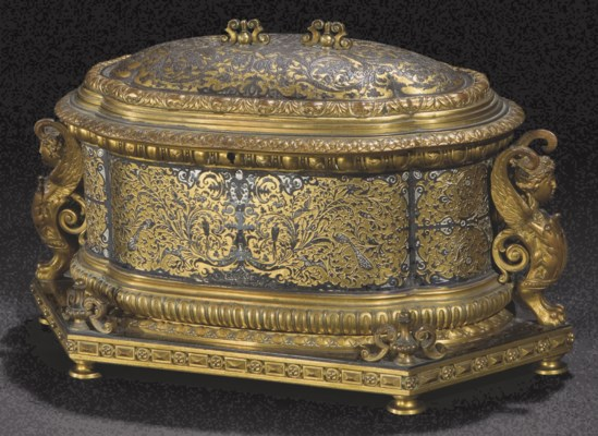 coffret d 39 epoque napoleon iii seconde moitie du xixeme siecle christie 39 s. Black Bedroom Furniture Sets. Home Design Ideas