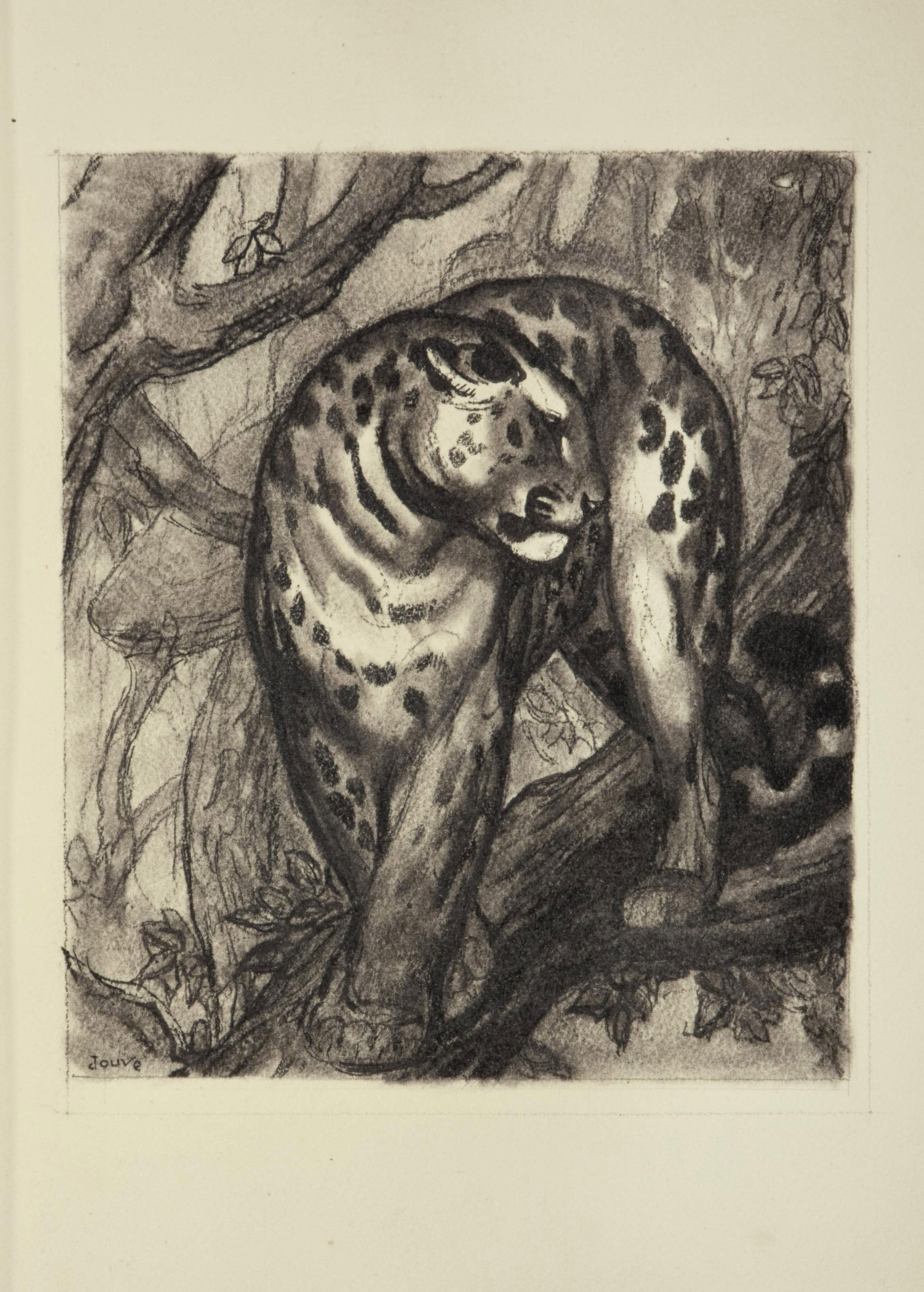 [JOUVE] -- MARAN, René (1887-1960). Le Livre de la brousse. Illustrations de Paul Jouve. Paris: l'Automobile club de France, 1931.