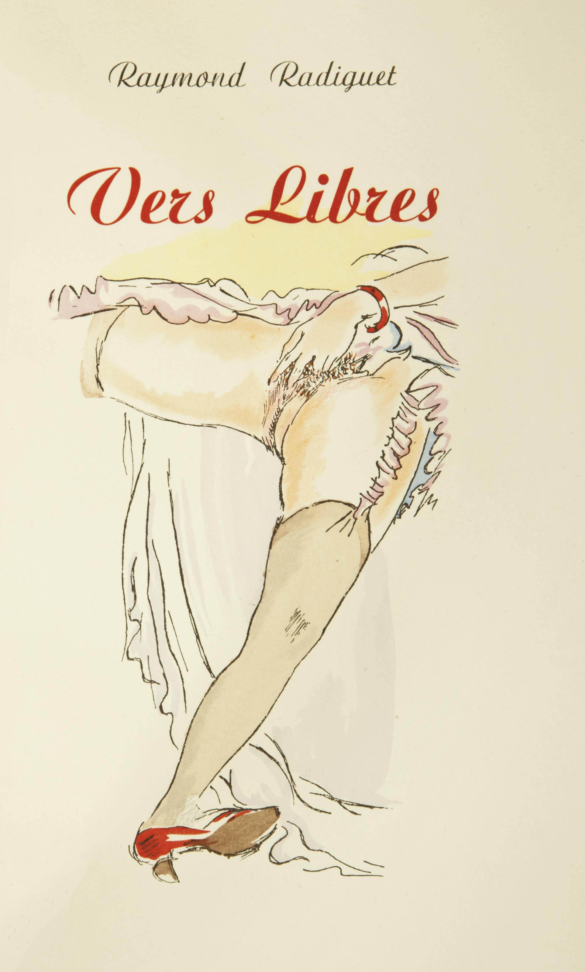 [ROJAN] -- RADIGUET, Raymond (1903-1923). Vers Libres. Nogent: au panier fleuri, [Paris vers 1937].
