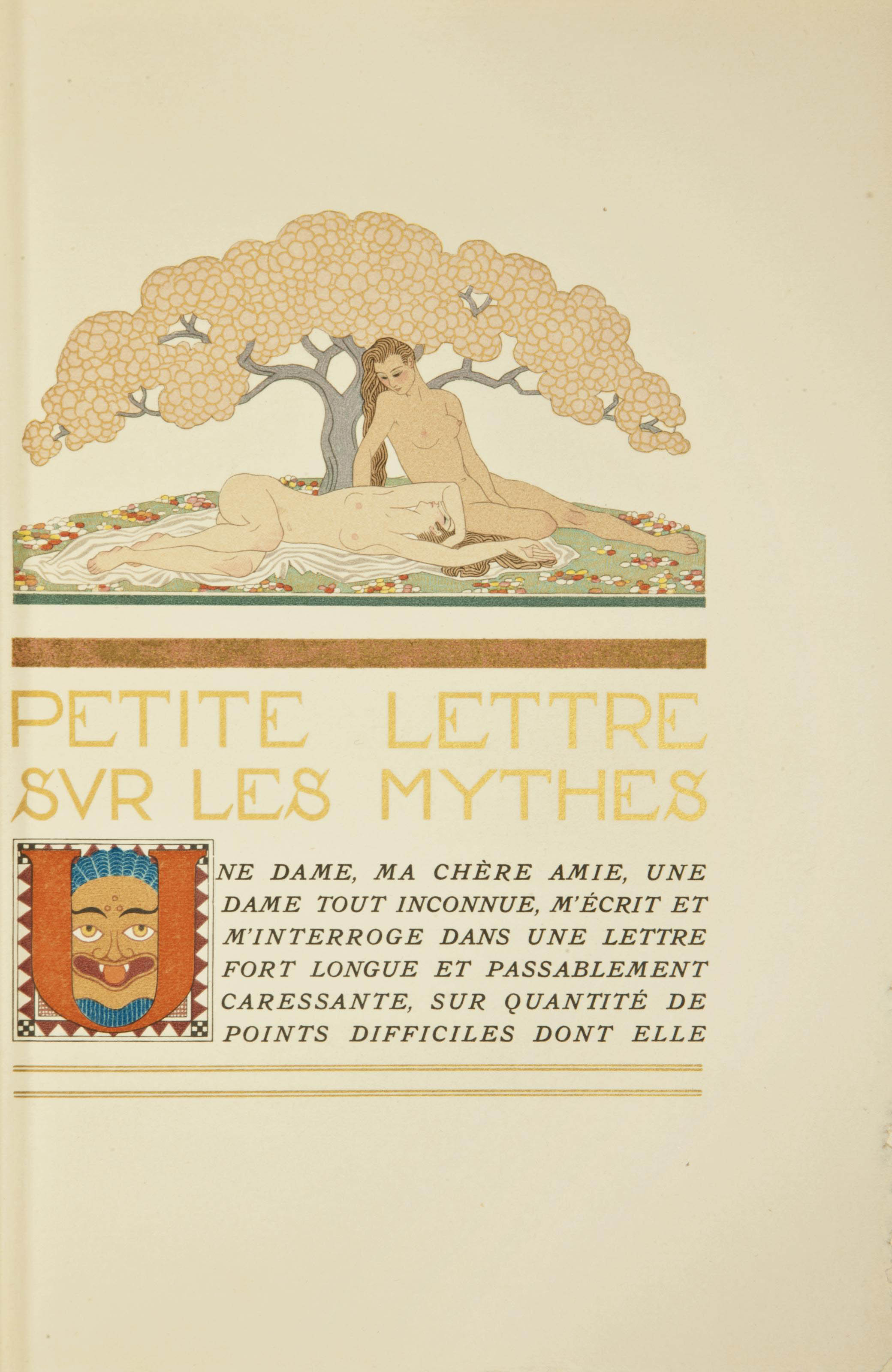 [BARBIER] -- GUÉRIN, Maurice de (1810-1839). Poèmes en prose. Précédés d'une petite lettre sur les mythes par Paul Valéry. Illustrations par George Barbier. Paris: Auguste Blaizot, 1928.