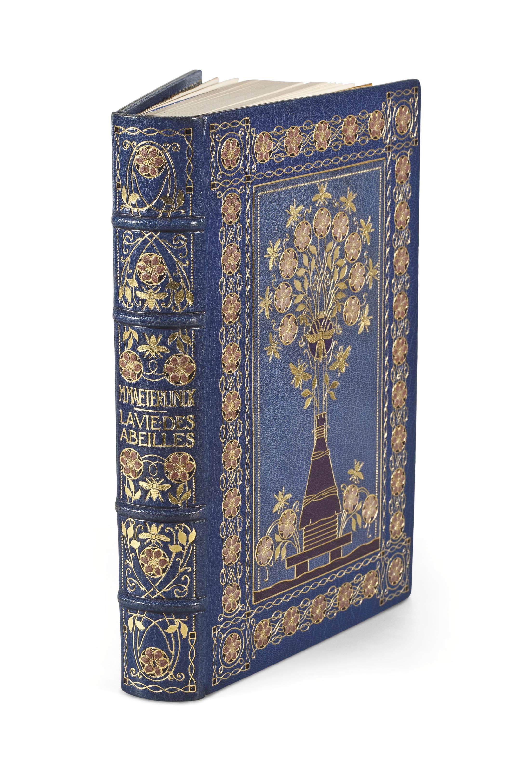 [GIRALDON] -- MAETERLINCK, Maurice (1862-1949). La Vie des abeilles. Paris: Librairie des amateurs, Ferroud, 1914-1918.