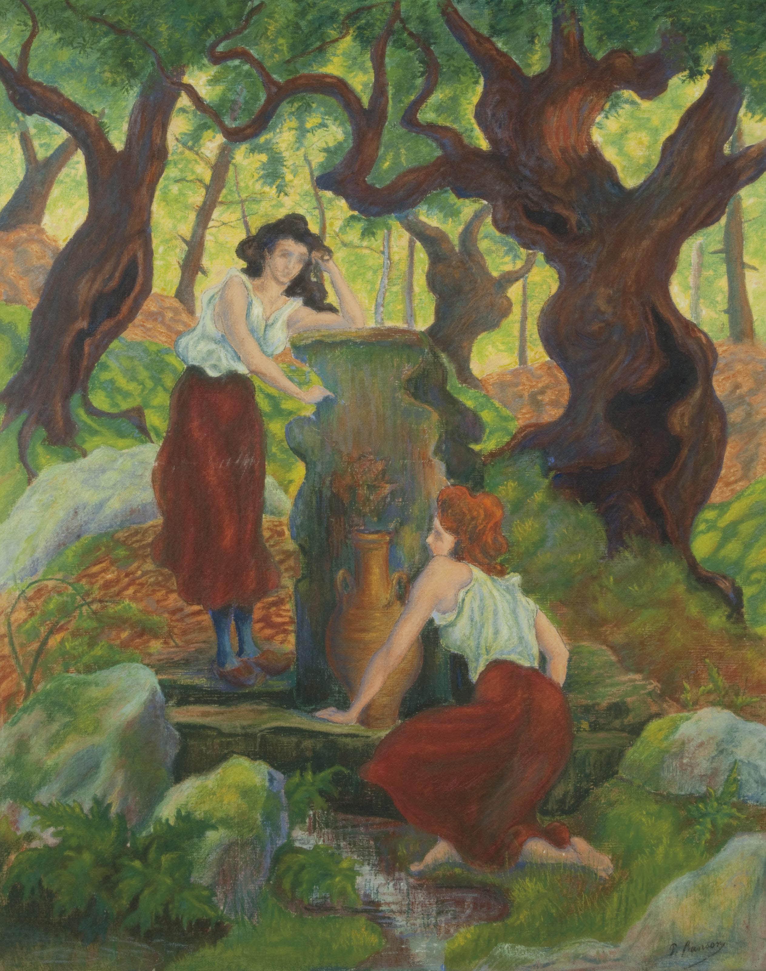 Deux femmes à la fontaine
