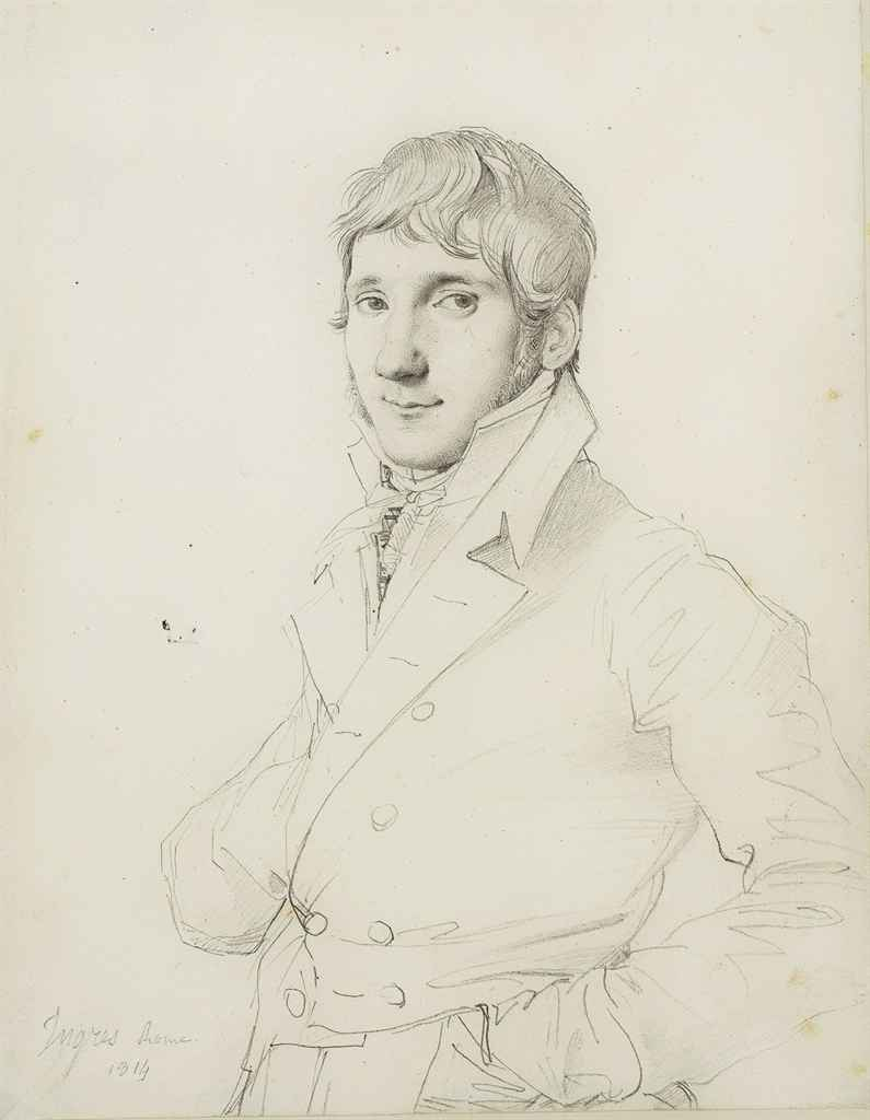 Portrait d'homme en buste, tourné vers la gauche