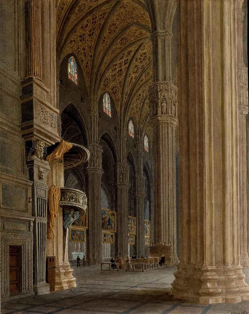 Nef de la cathédrale de Milan