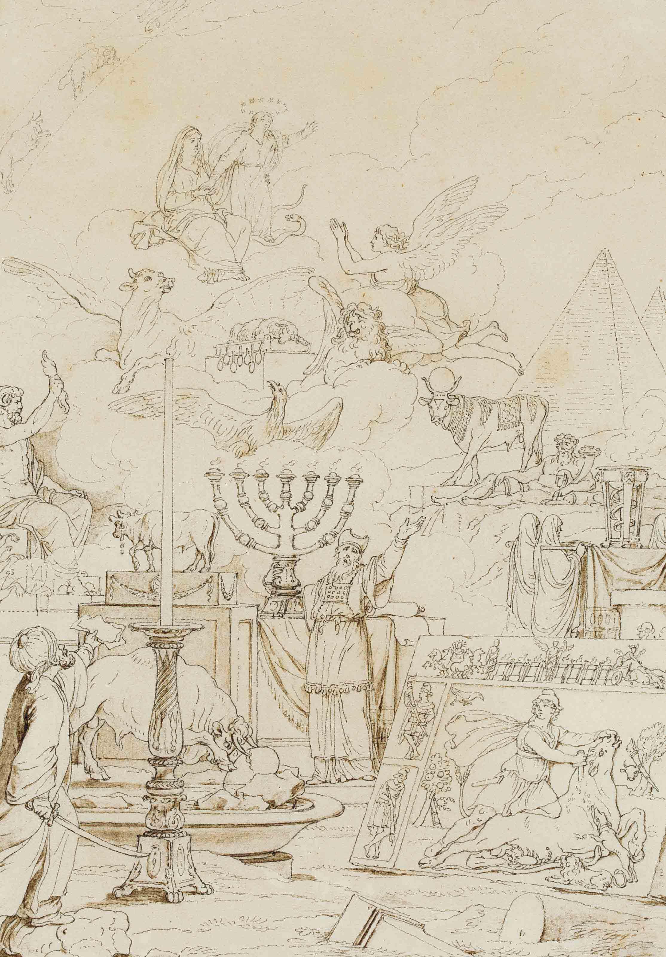 Le chandelier d'or à sept branches du Temple de Jérusalem