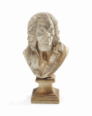 buste en platre representant le buste de francois marie arouet dit voltaire 1694 1778. Black Bedroom Furniture Sets. Home Design Ideas
