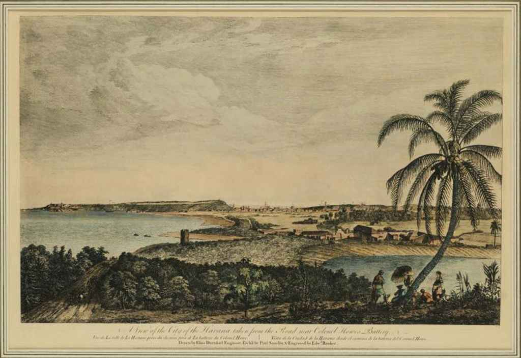 A View of the city of Havana, taken from the road near Colonel Howe's battery par Paul Sand et Edward Rooker