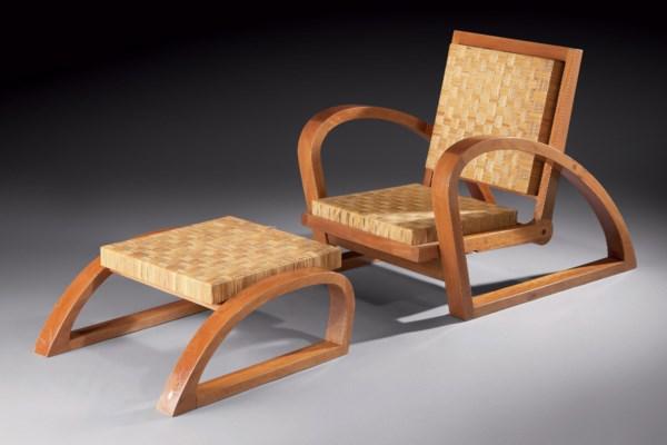 Francis jourdain 1876 1958 chaise longue vers 1928 for Cannage chaise paris
