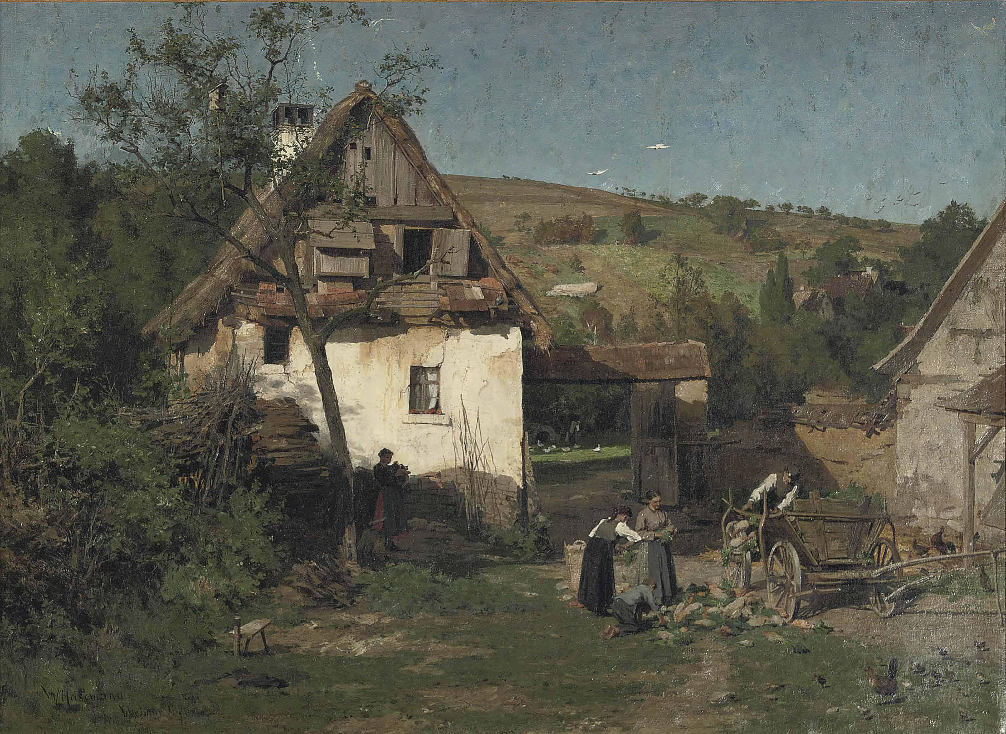 Daily activities near a farm