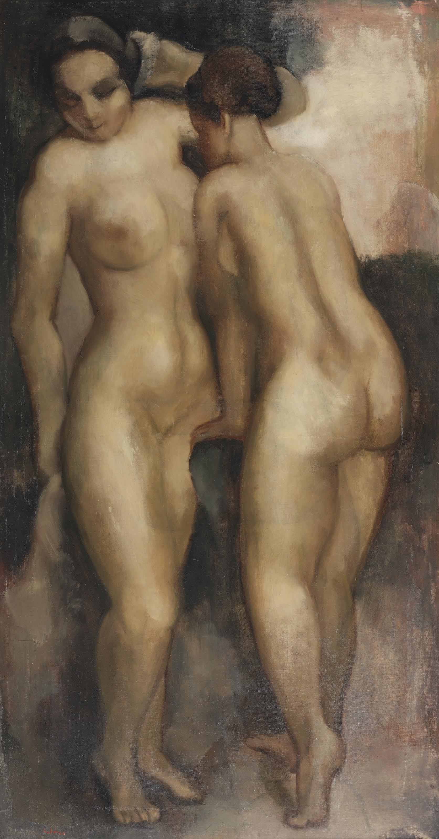 Two standing nudes