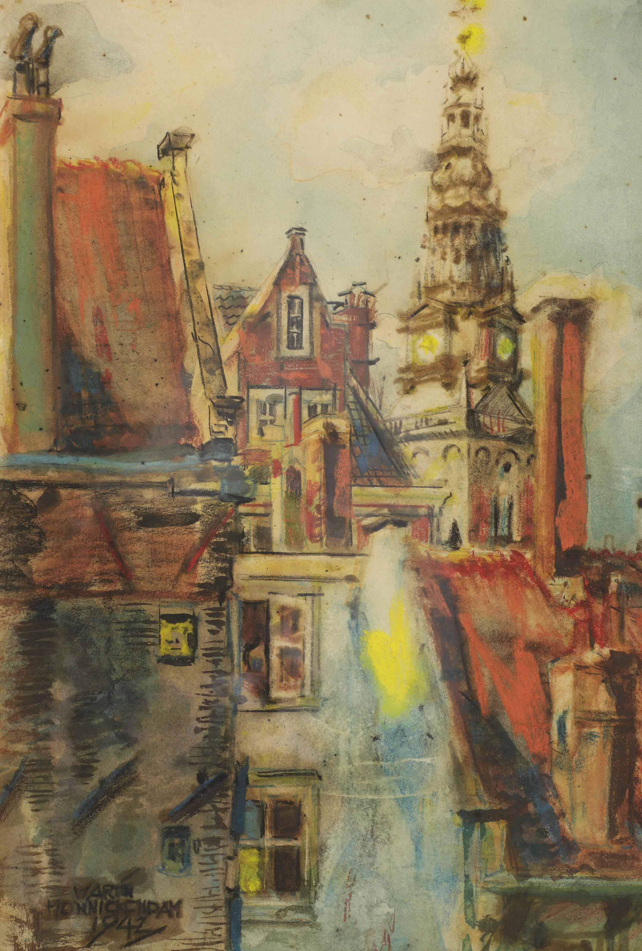 View of the Oude Kerk, Amsterdam