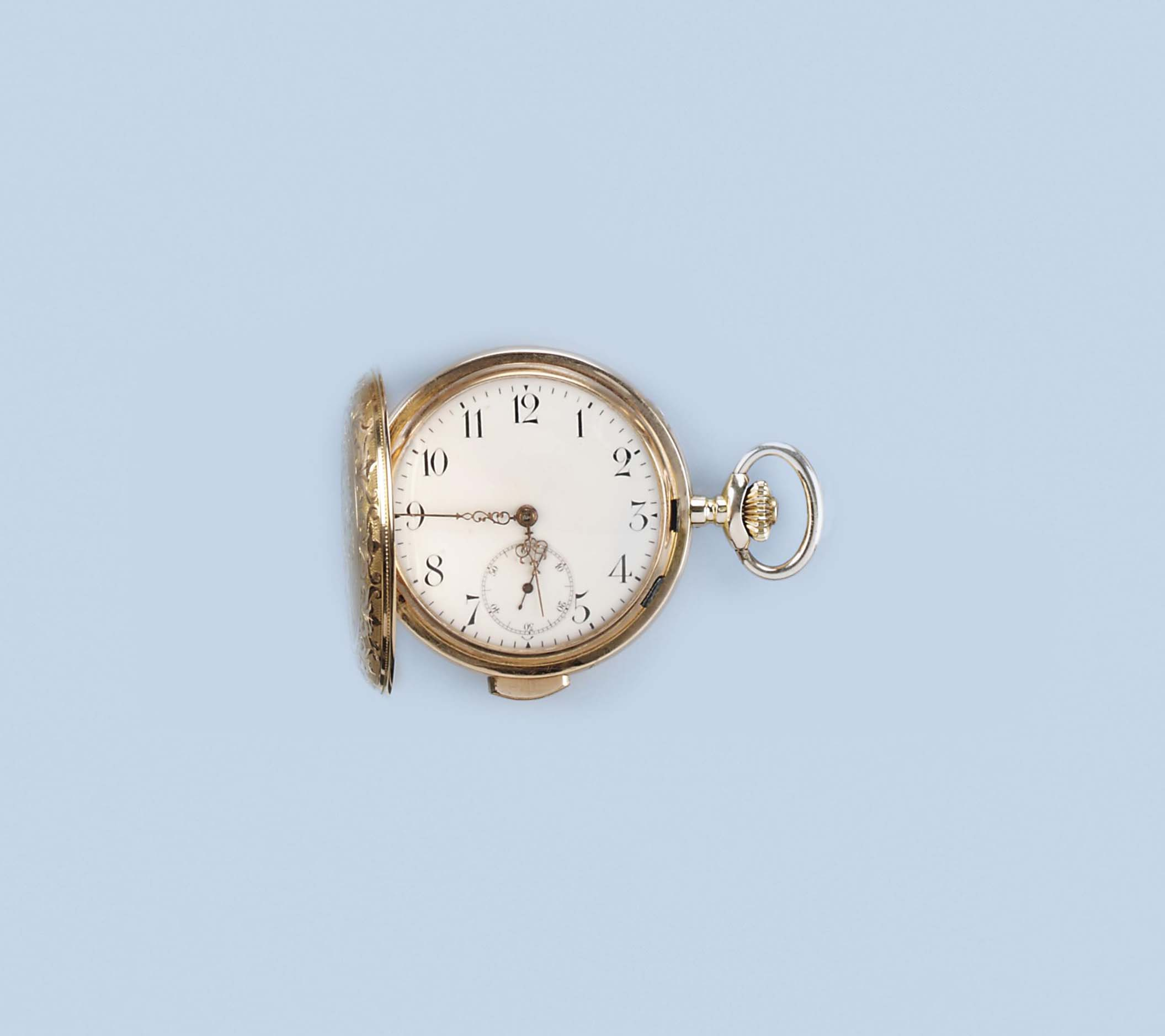 AN 18K GOLD REPEATING POCKETWATCH, BY VOLTA