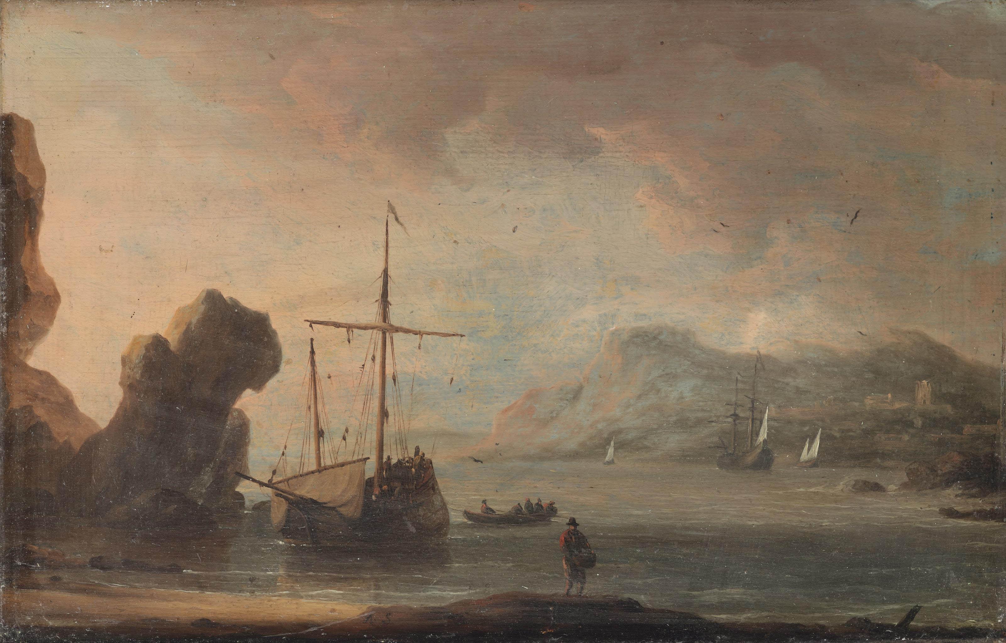 Ships in a quiet estuary