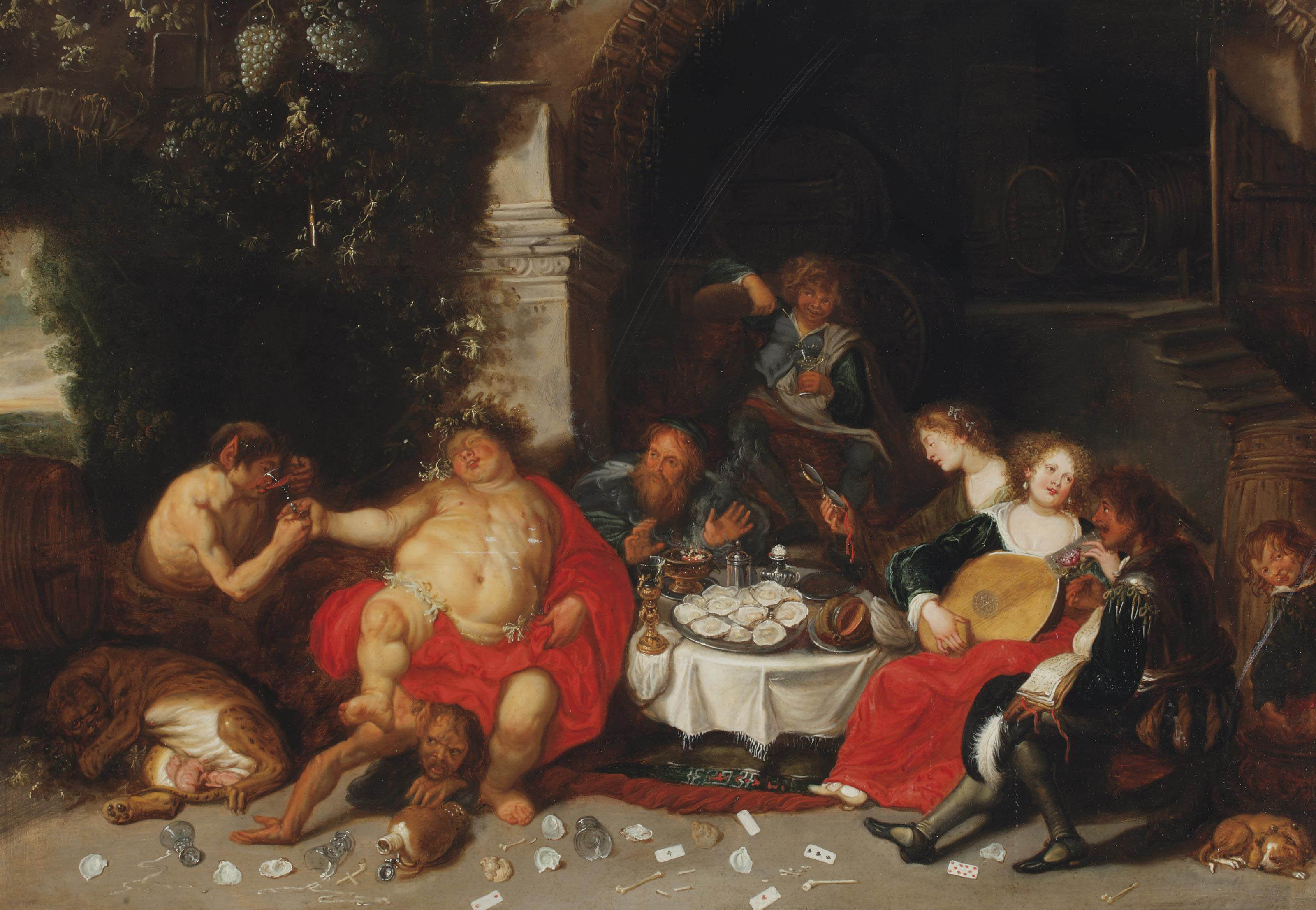 A bacchanal in a grotto