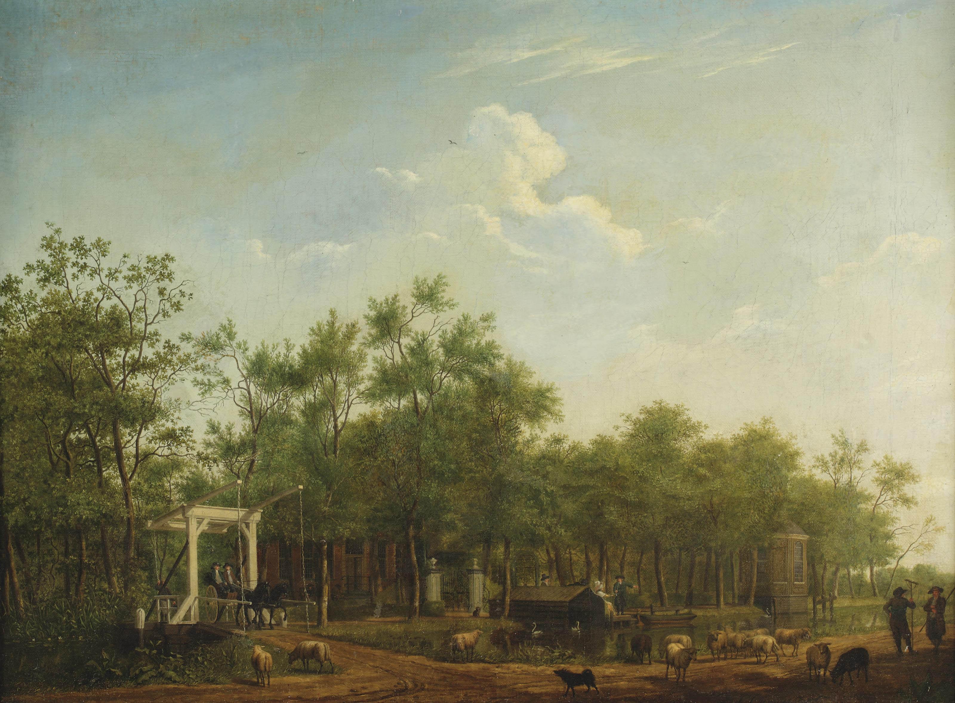 A view of the Donckervliet estate, Braambrugge aan de Amstel