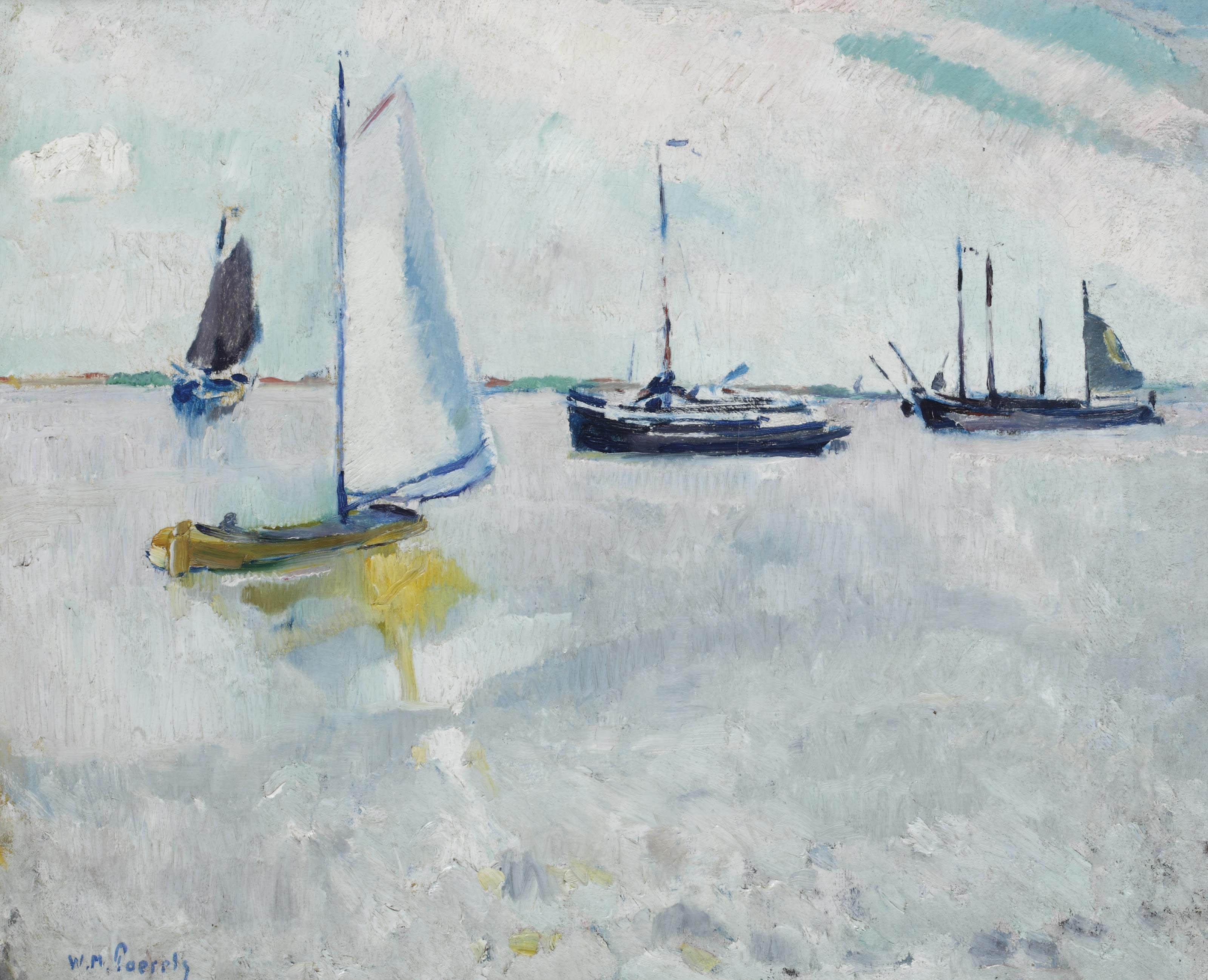 Sailboats near Scheveningen