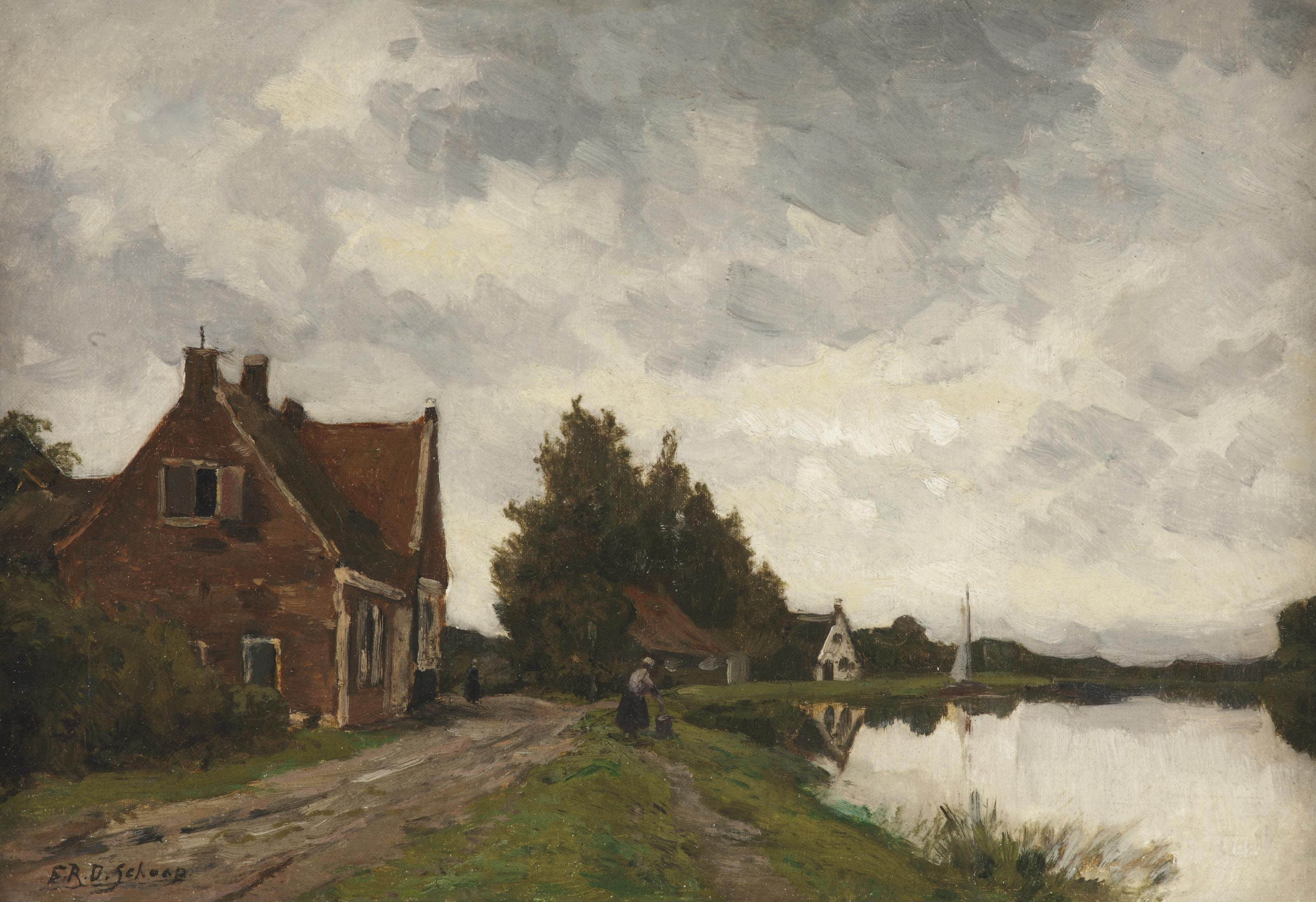 Klompweg, Nigtevecht, with Fort Hinderdam in the distance