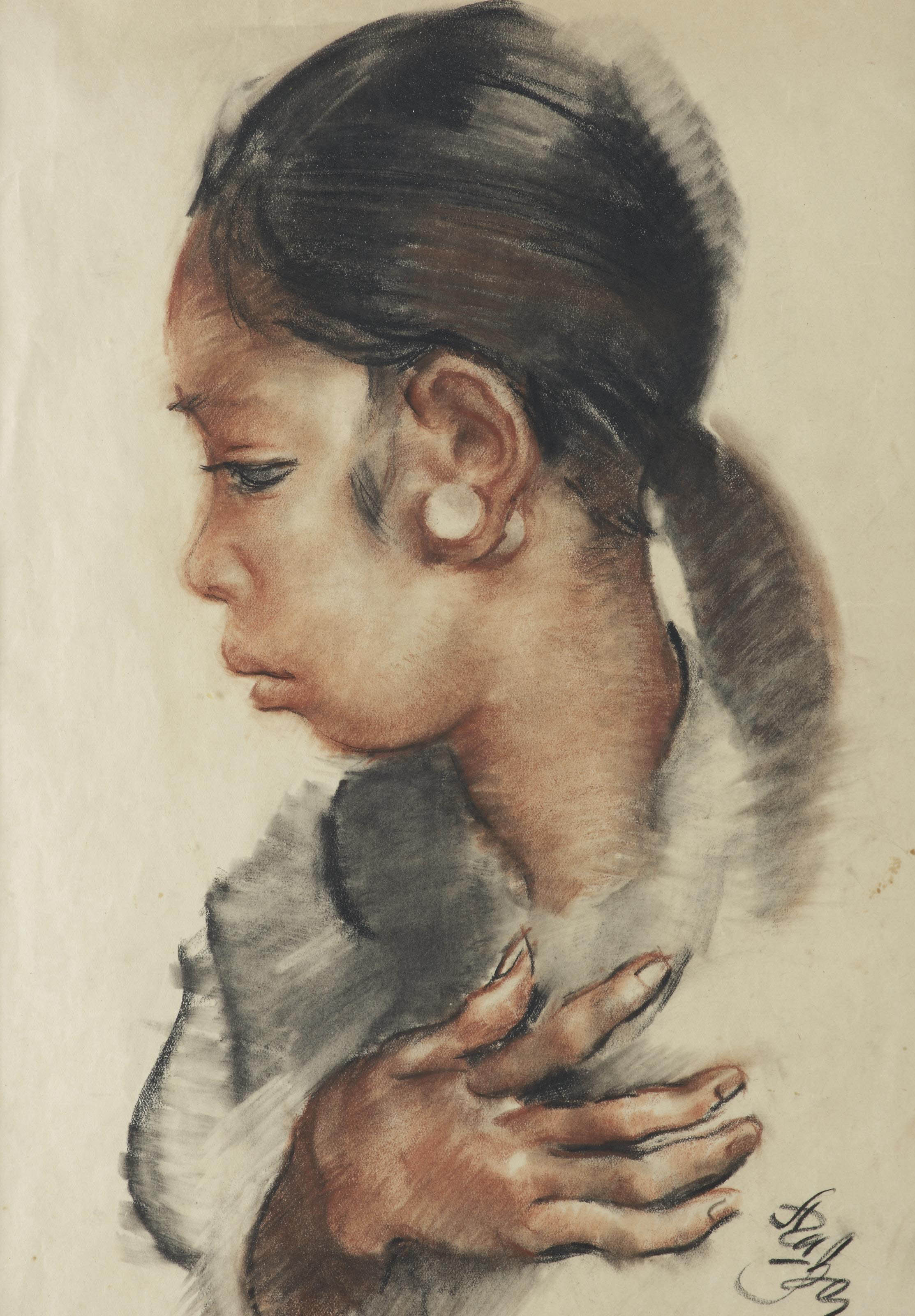 Portrait of an Indonesian girl