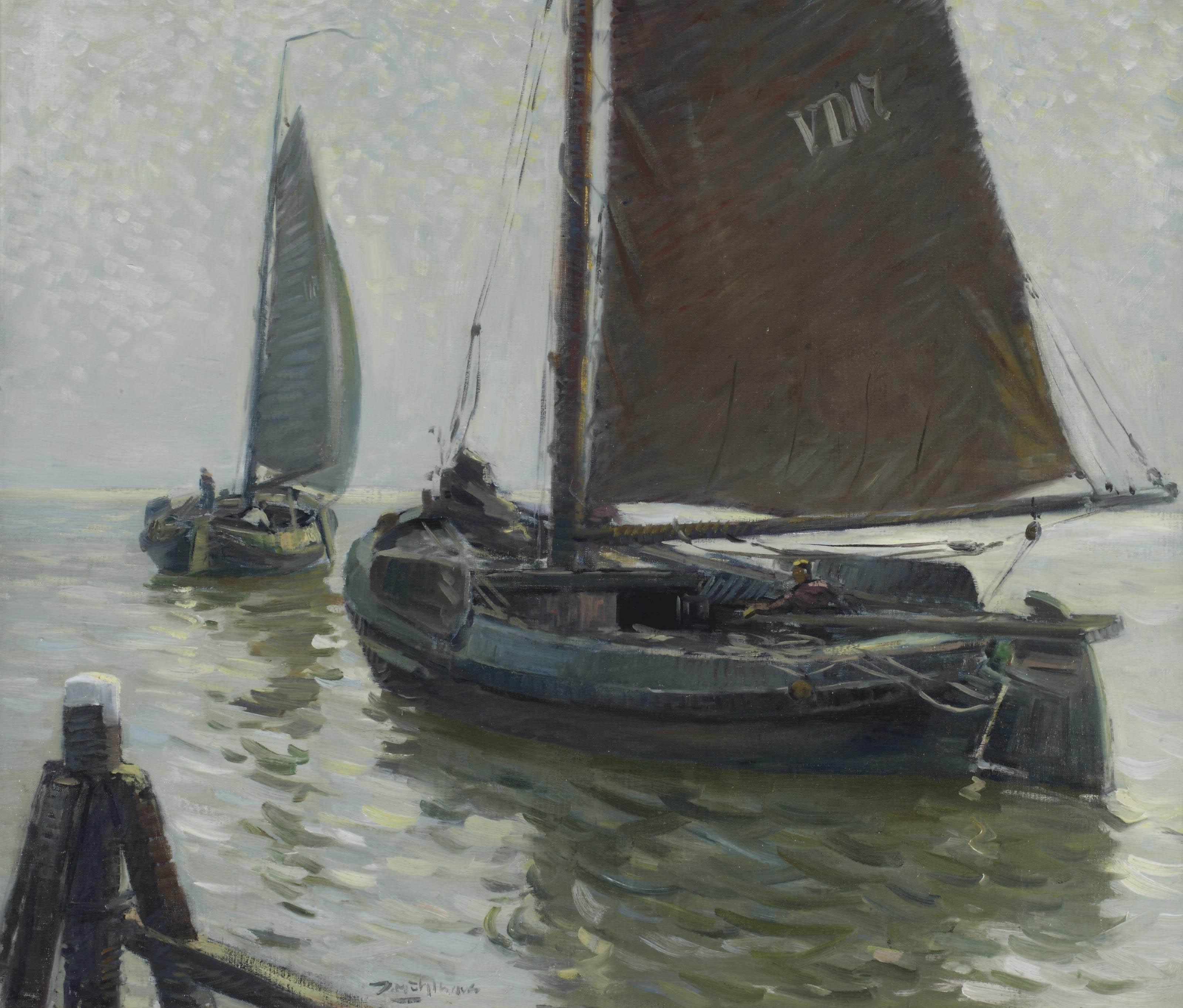 Volendam fishermen setting out to sea
