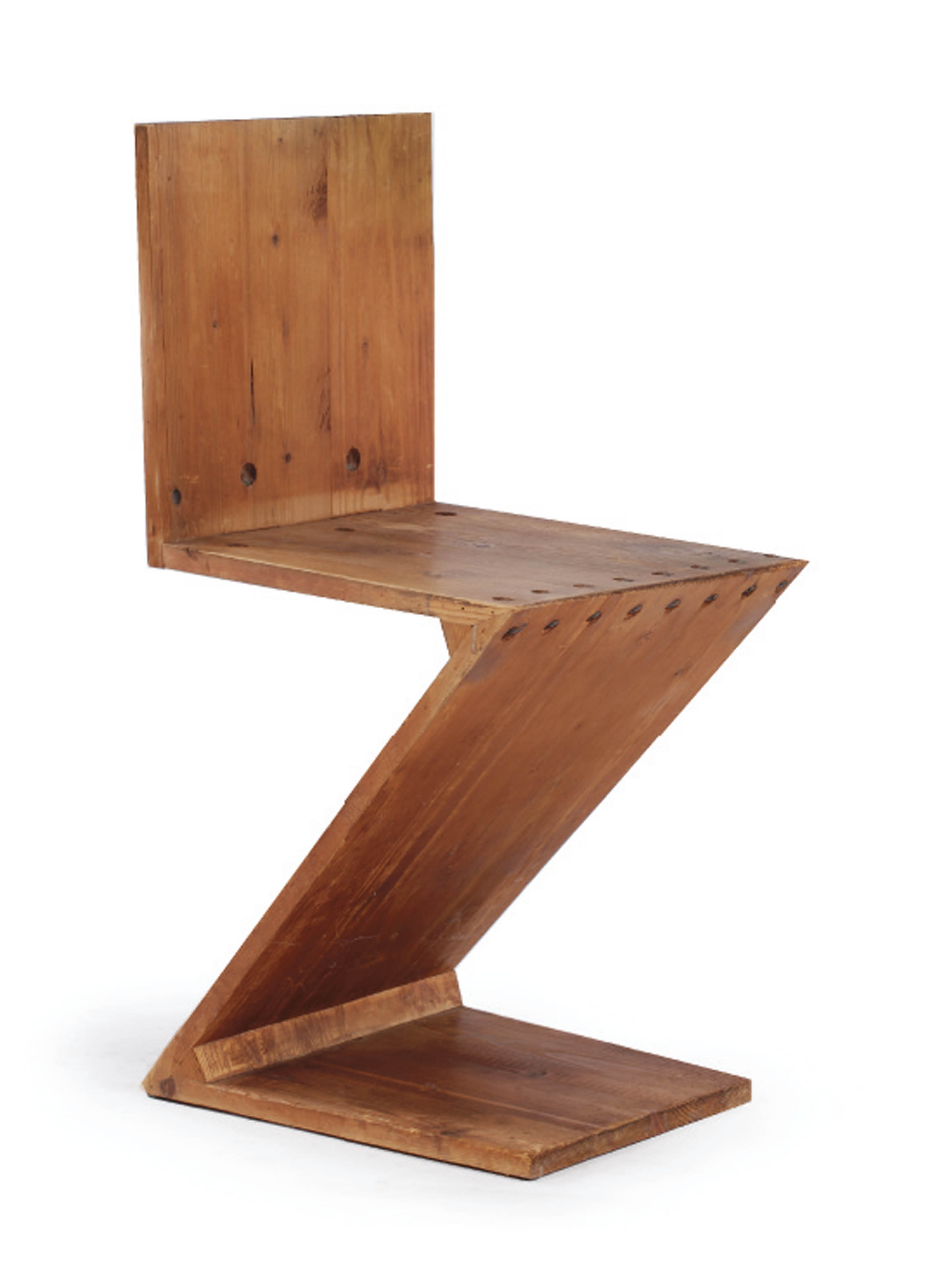 A WHITEWOOD ZIGZAG CHAIR