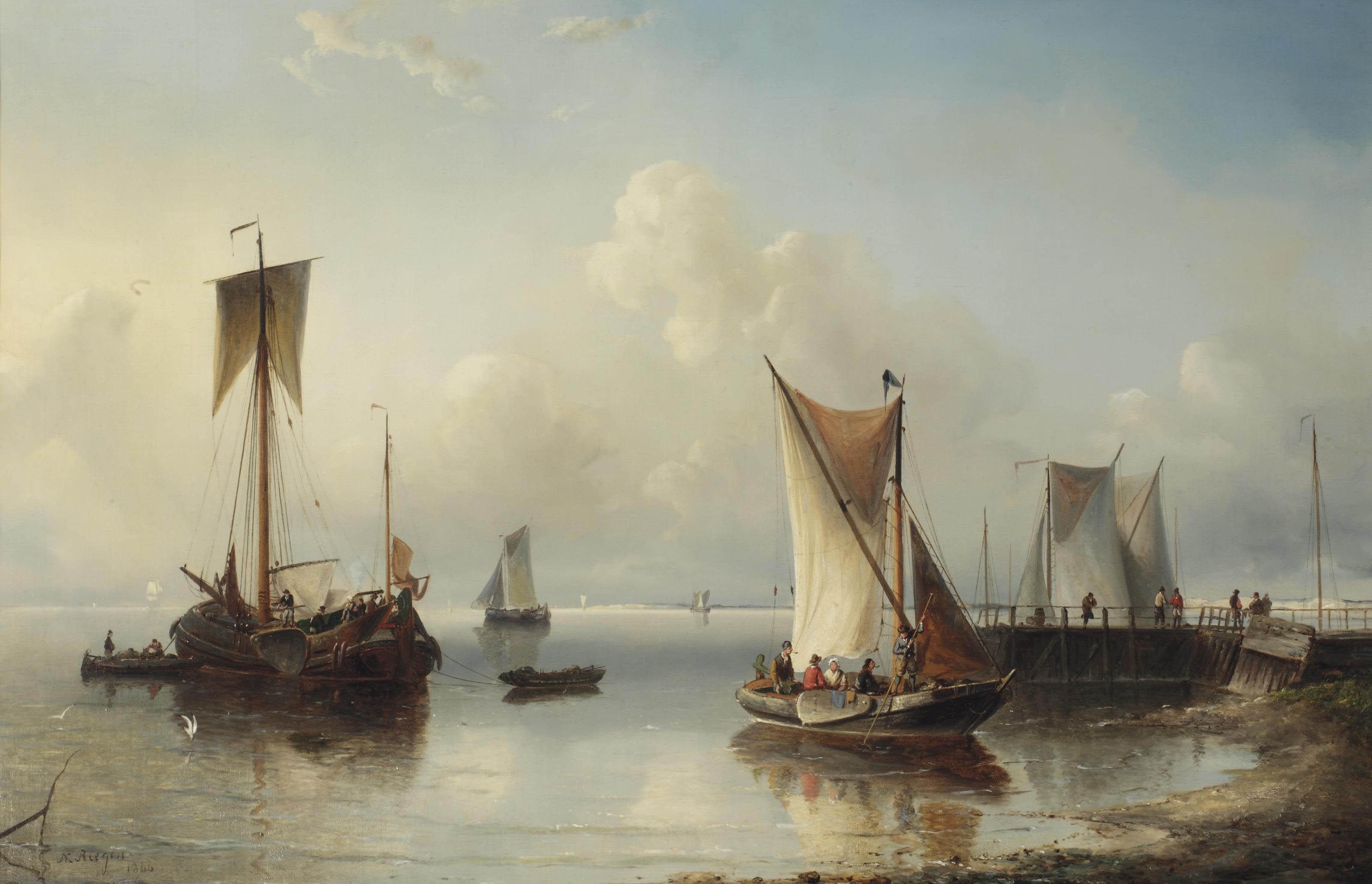 Shipping near the shore