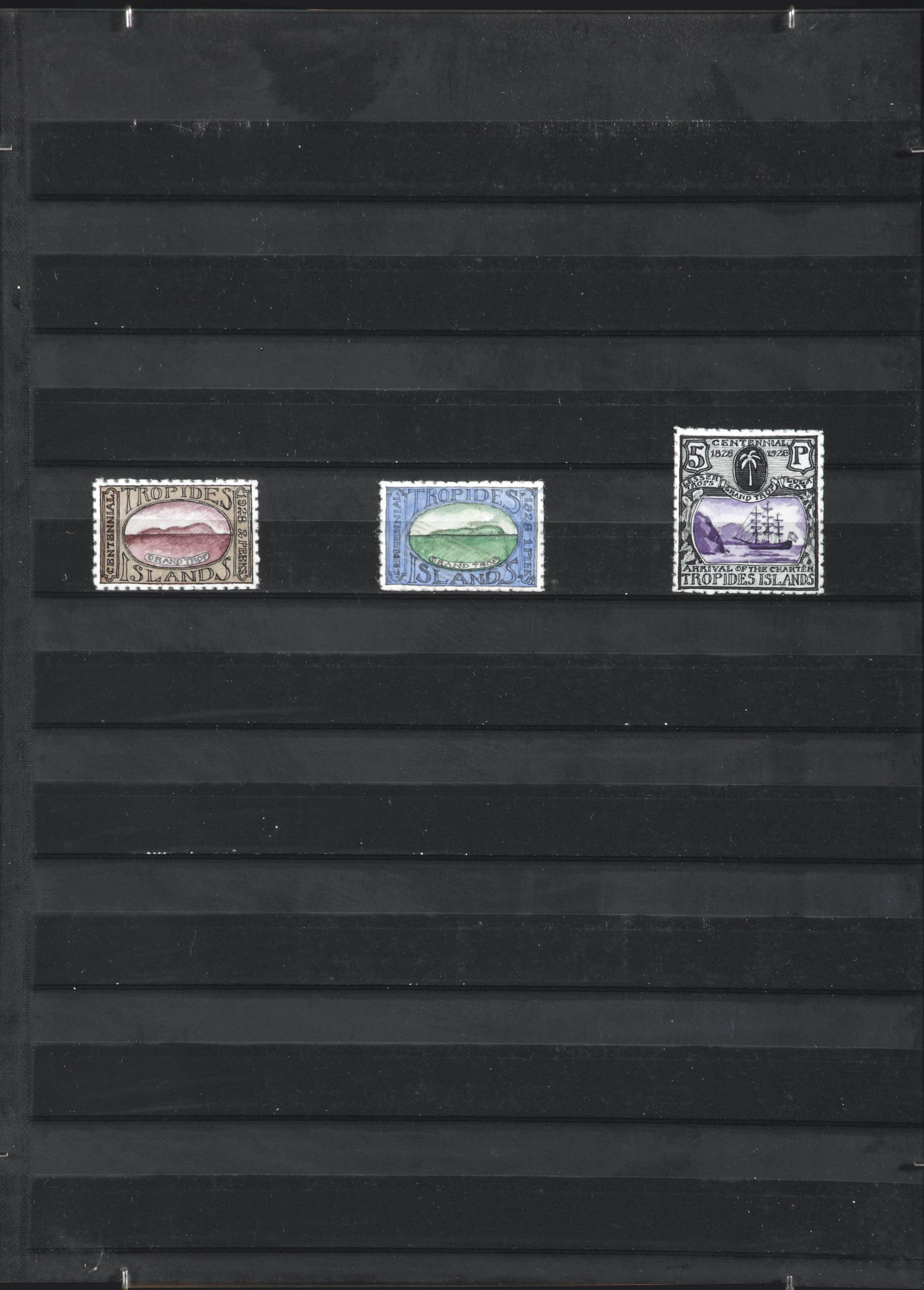 TROPIDES ISLANDS - A SERIES OF THREE STAMPS