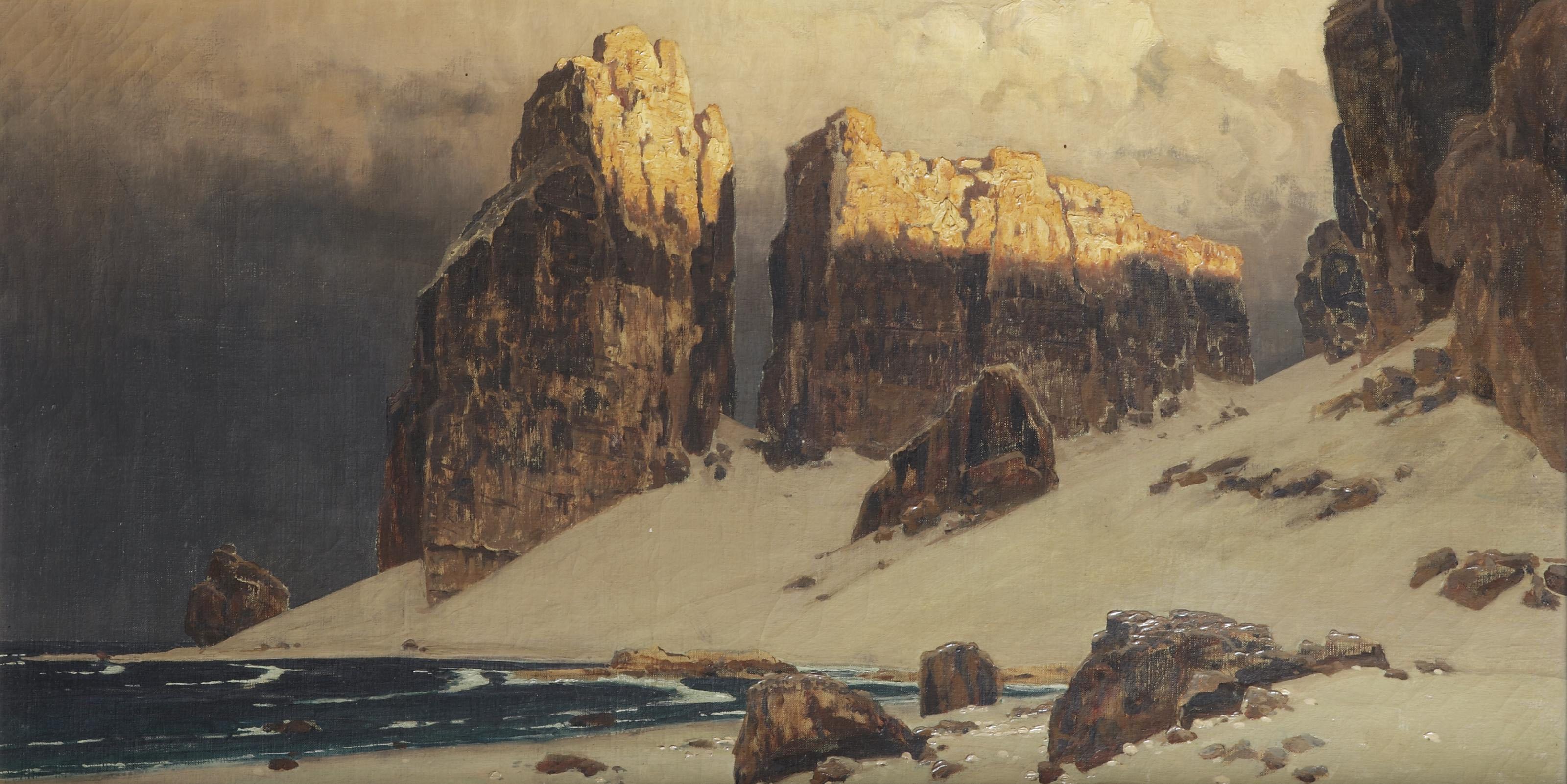 Sunny cliffs near the North sea