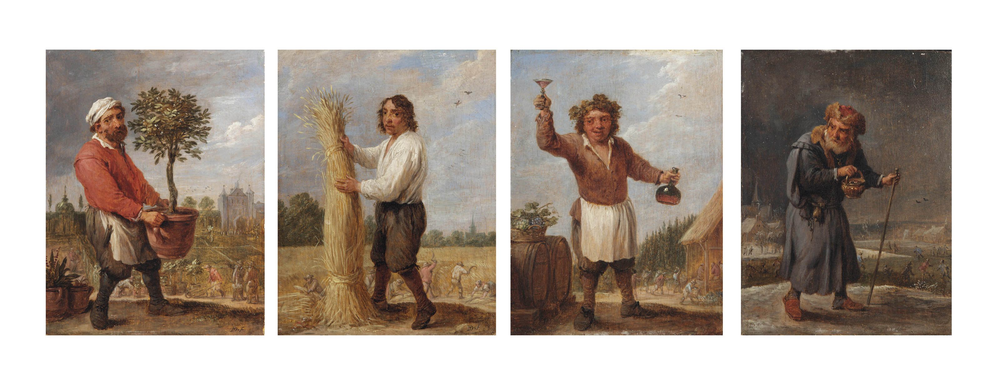 An Allegory of the Four Seasons: Spring, Summer, Autumn and Winter