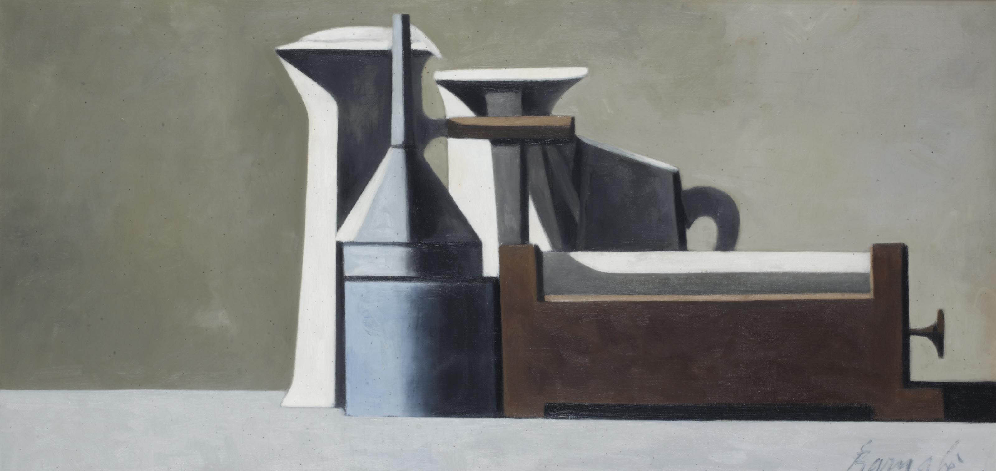 A still life with a funnel
