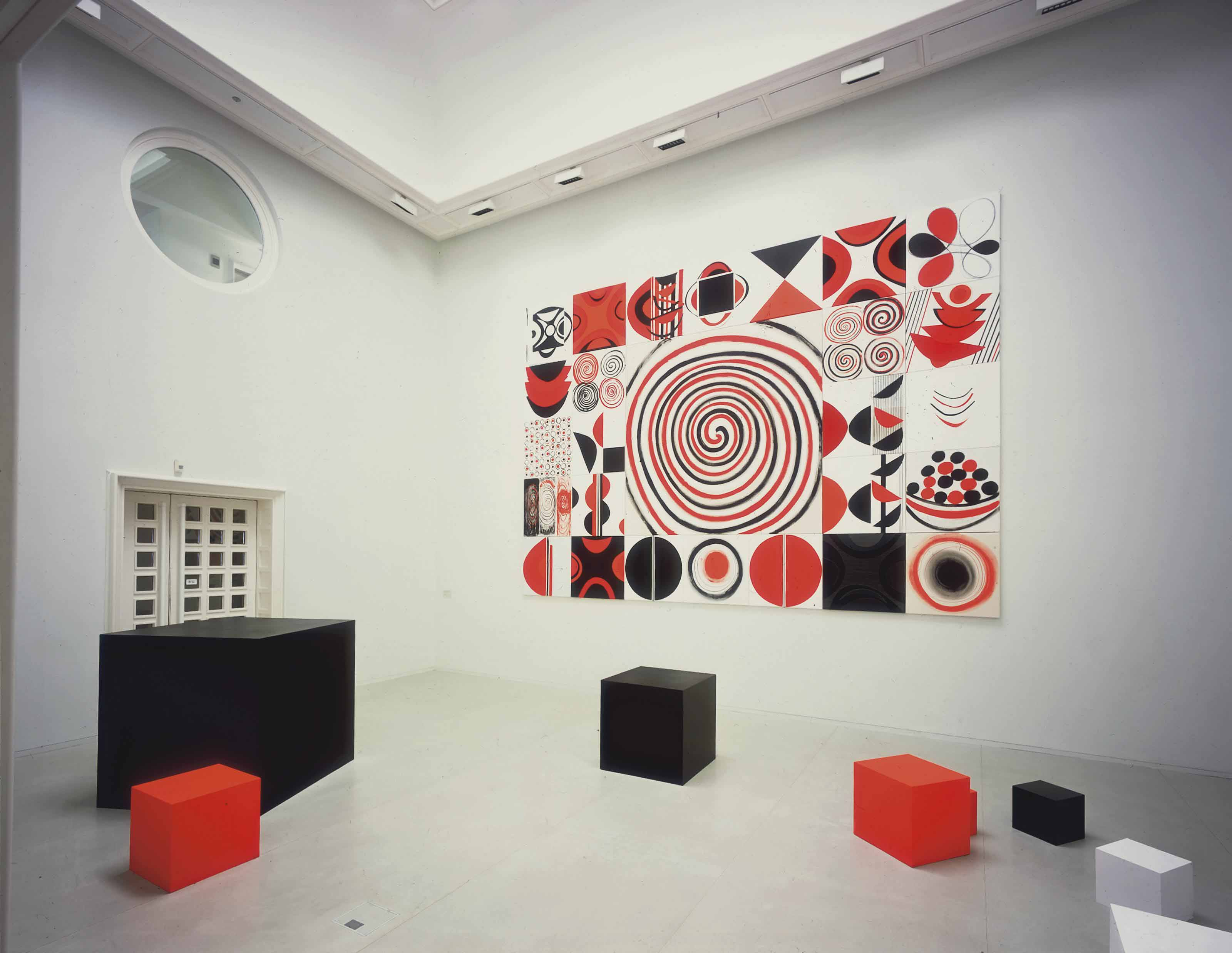 Installation - Contrasts in Red, Black and White