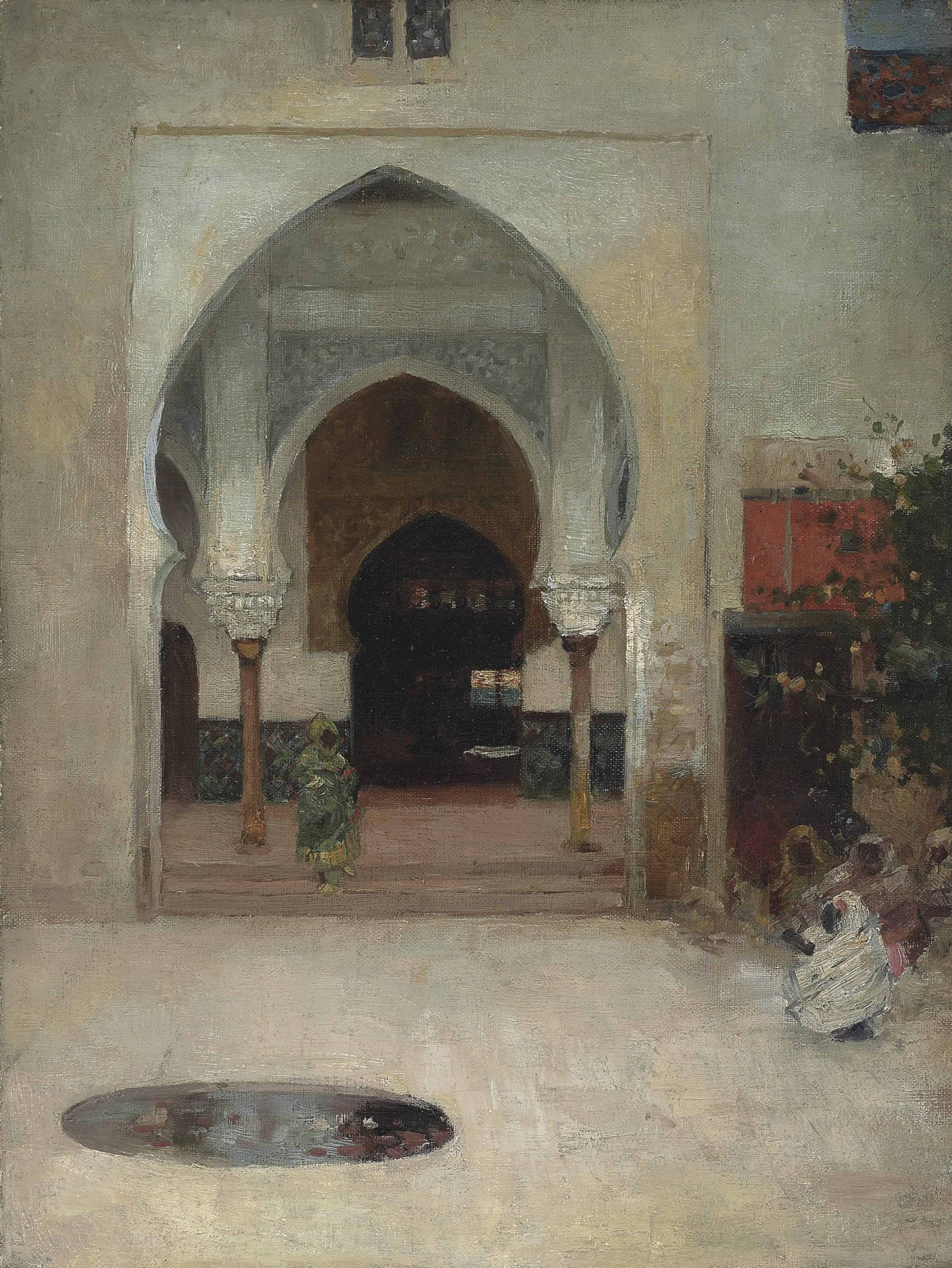 Study for At the Door of the Seraglio