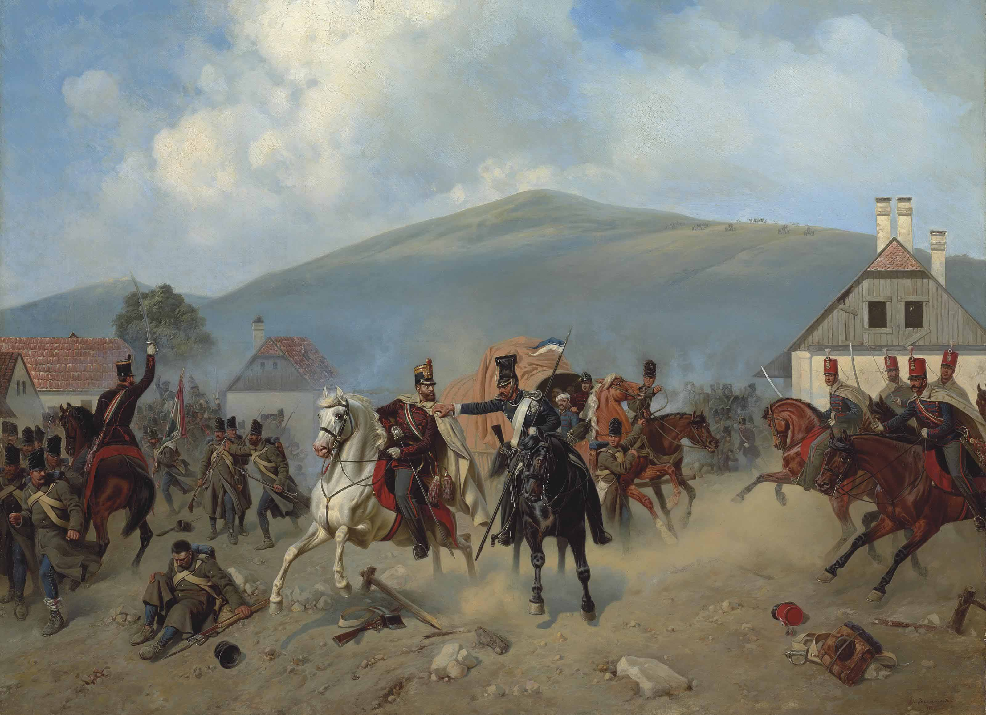 Skirmish during the Hungarian Revolution of 1848-1849