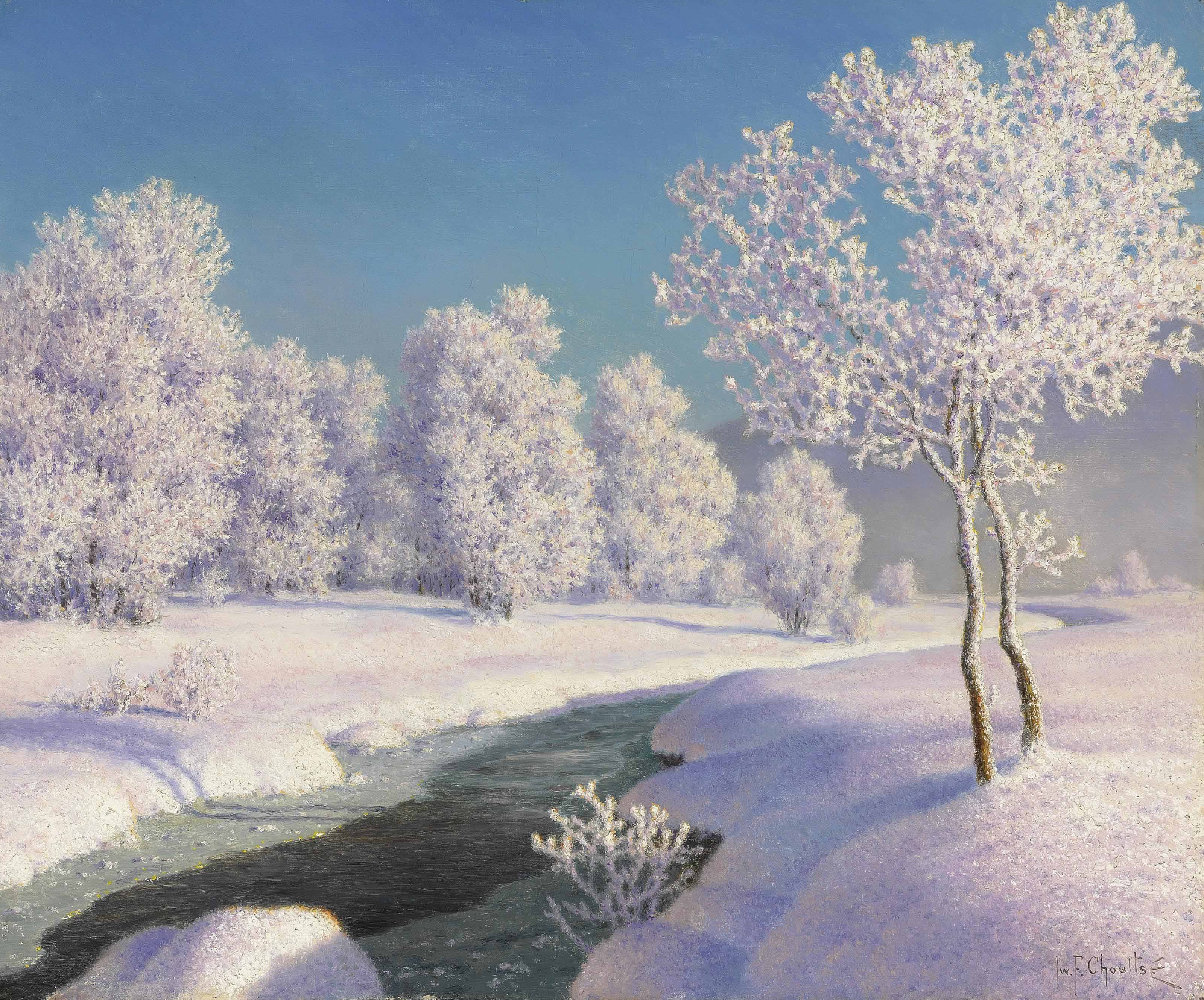 Winter morning in Engadine