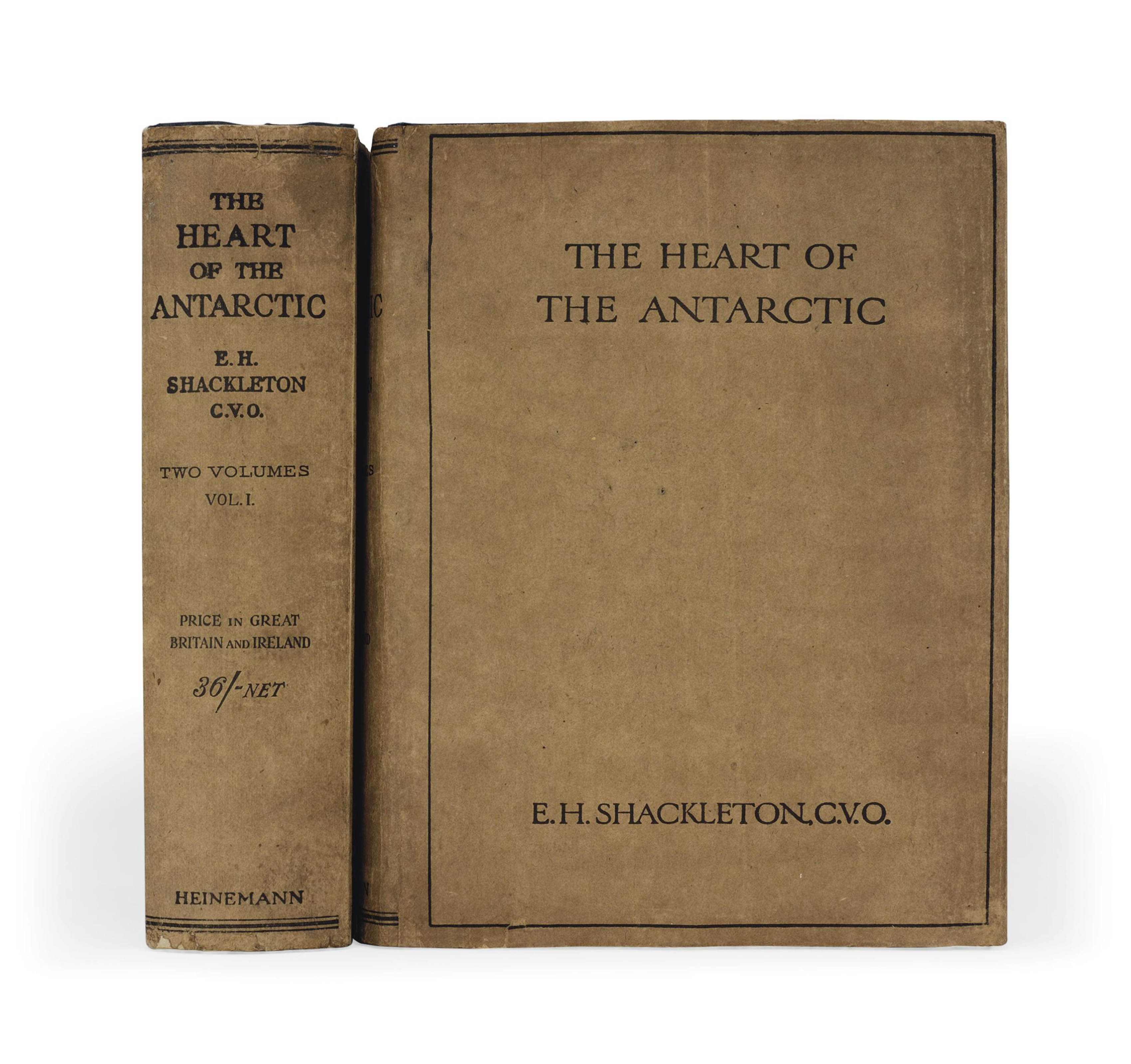 SHACKLETON, Sir Ernest Henry (1874-1922). The Heart of the Antarctic being the story of the British Antarctic Expedition 1907-1909. London: Ballantyne & Co. for William Heinemann, 1909.