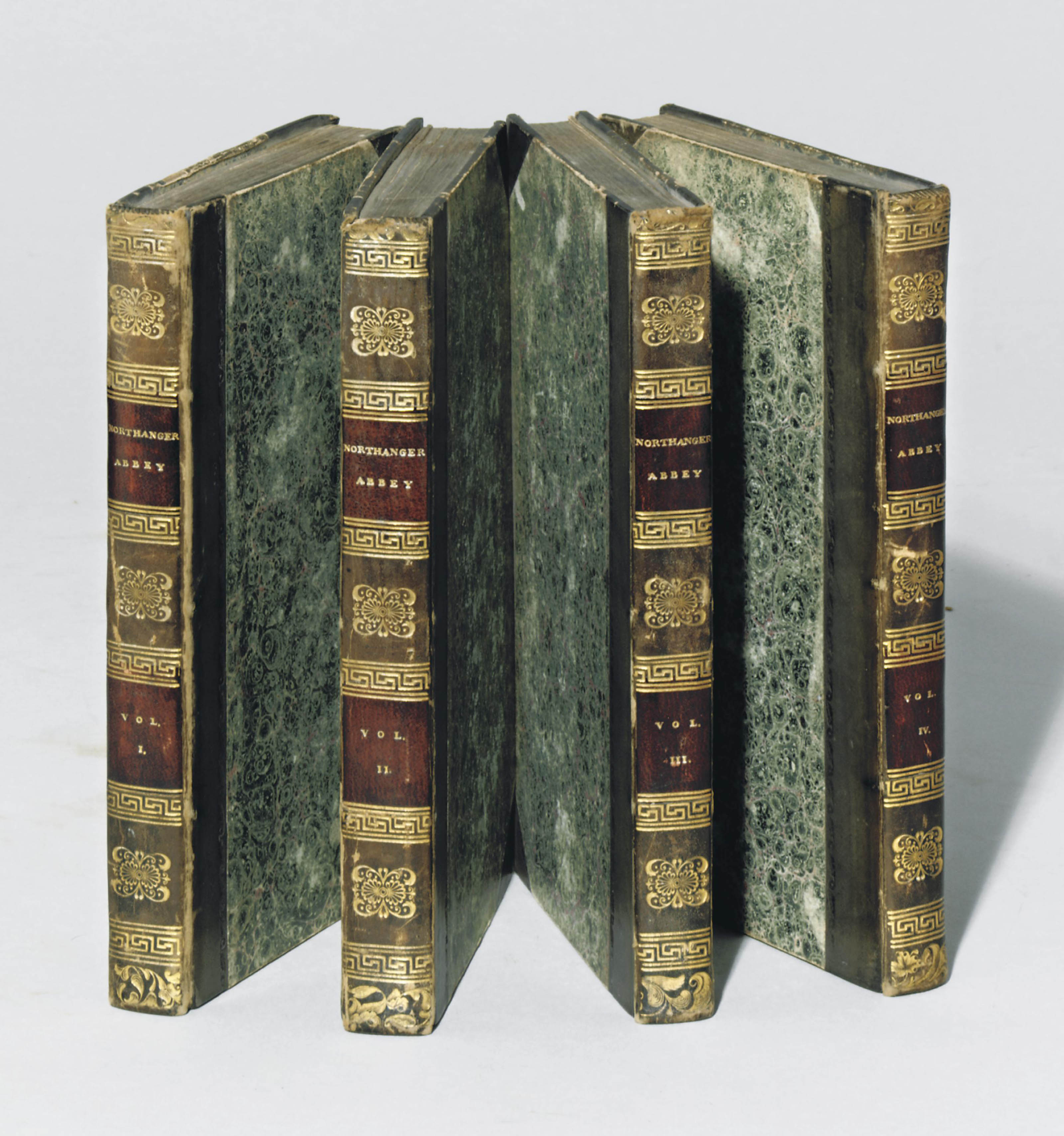 [AUSTEN, Jane (1775-1817).] Northanger Abbey: and Persuasion. With a Biographical Notice of the Author [by Henry Austen]. London: C. Rowarth [vols I-II], and T. Davison [vols III- IV] for John Murray, 1818 [but ca. 20 December 1817].