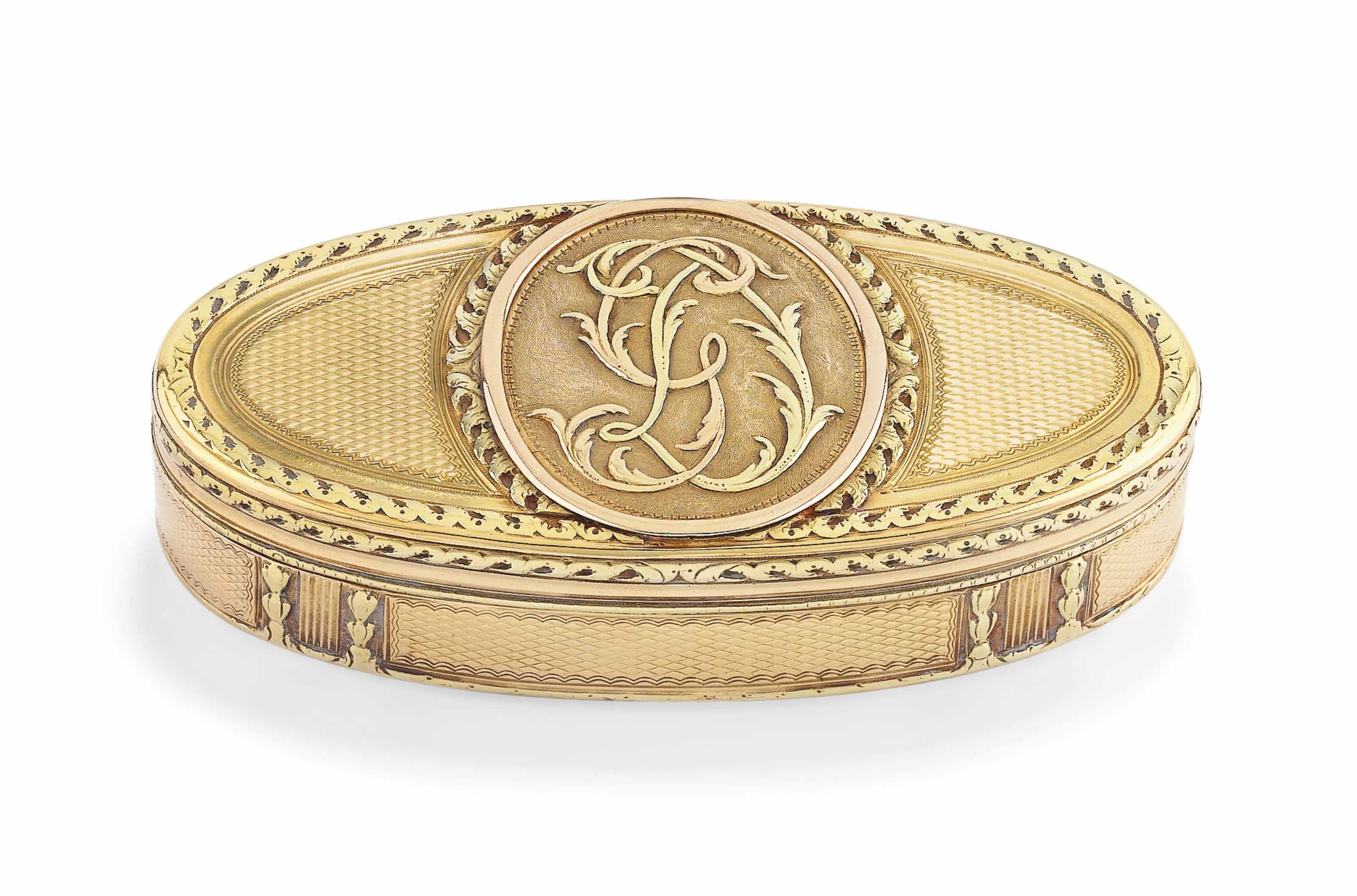 A LOUIS XVI VARI-COLOUR GOLD SNUFF-BOX