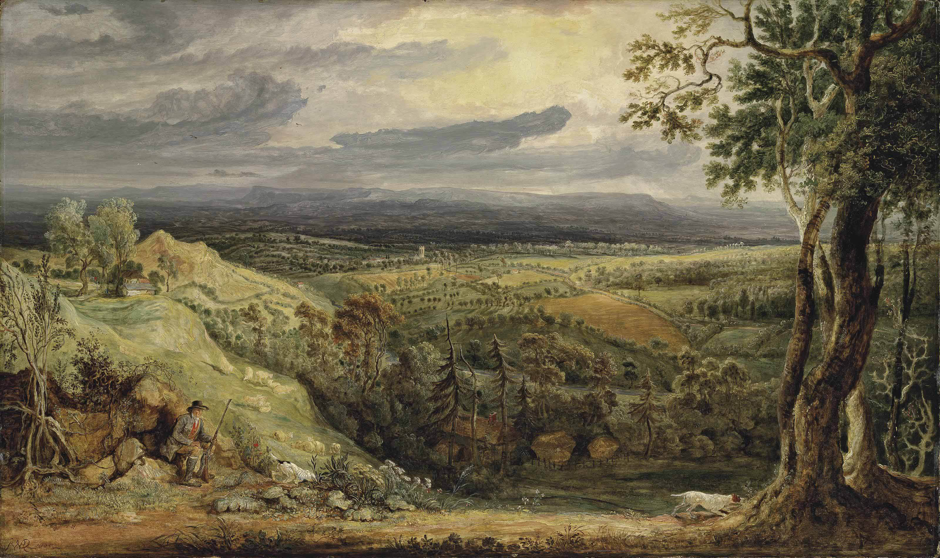 A view in Somersetshire from Fitzhead, the Seat of Lord Somerville