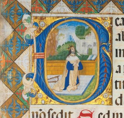 KING DAVID IN PRAYER, large hi