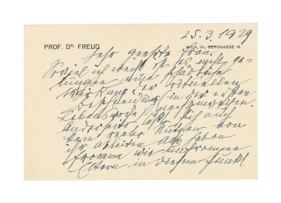FREUD, Sigmund (1856-1939). Au