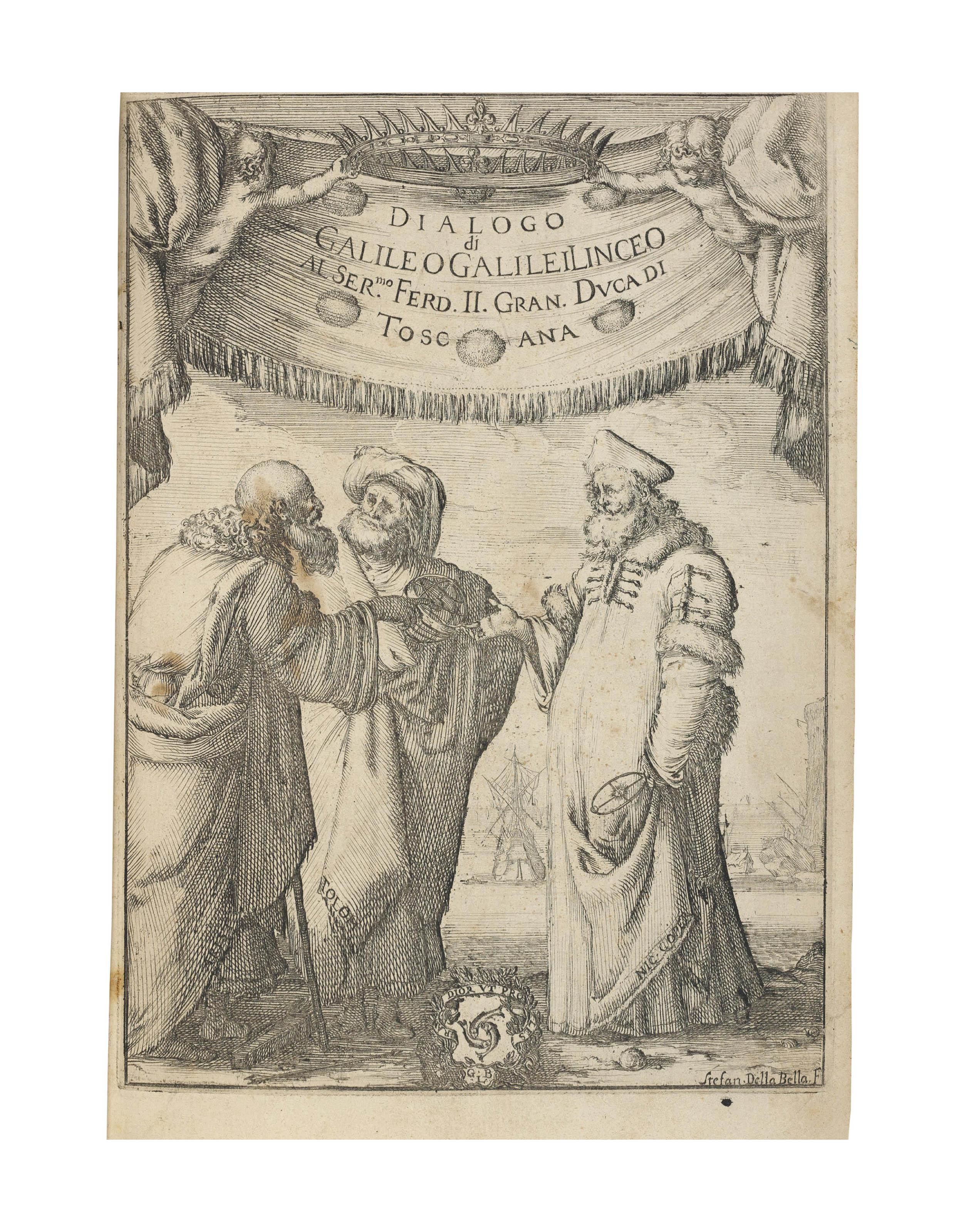 GALILEI, Galileo (1564-1642). Dialogo... sopra i due massimi sistemi del mondo Tolemaico, e Copernicano. Florence: Gian Battista Landini, 1632.