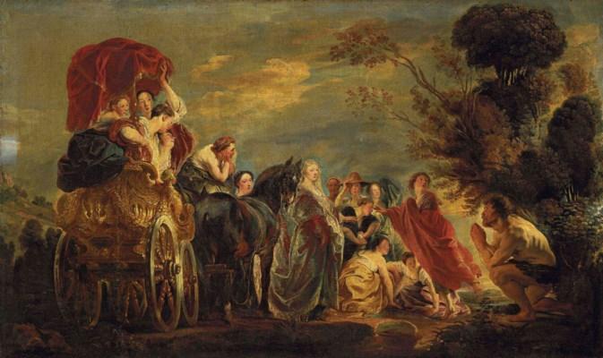 Jacob Jordaens (Antwerp 1593-1678) , The Meeting of ... Odysseus And Telemachus Meet
