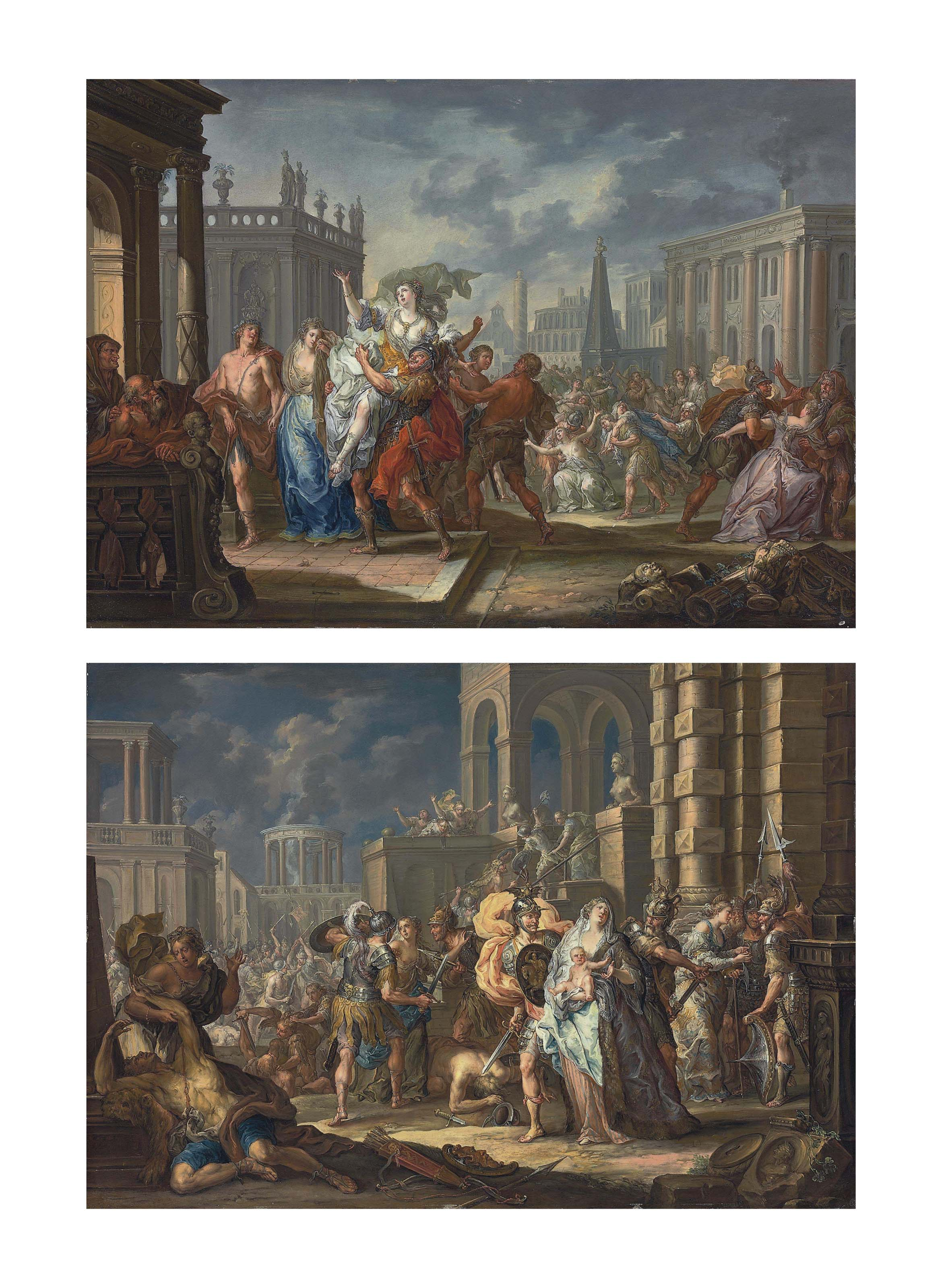 The Rape of the Sabine Women; and The Intervention of the Sabine Women