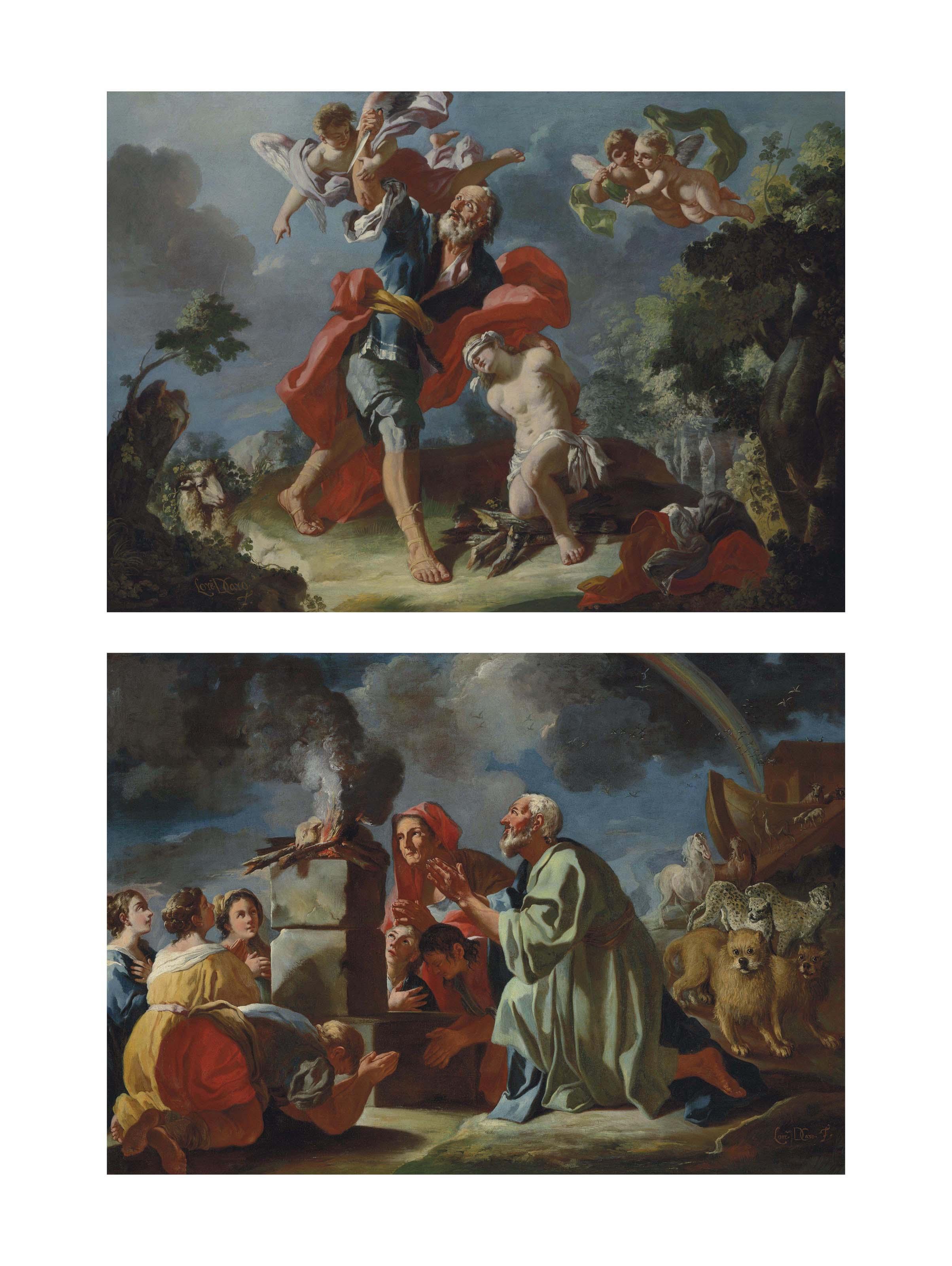 Abraham and Isaac; Noah's Sacrifice