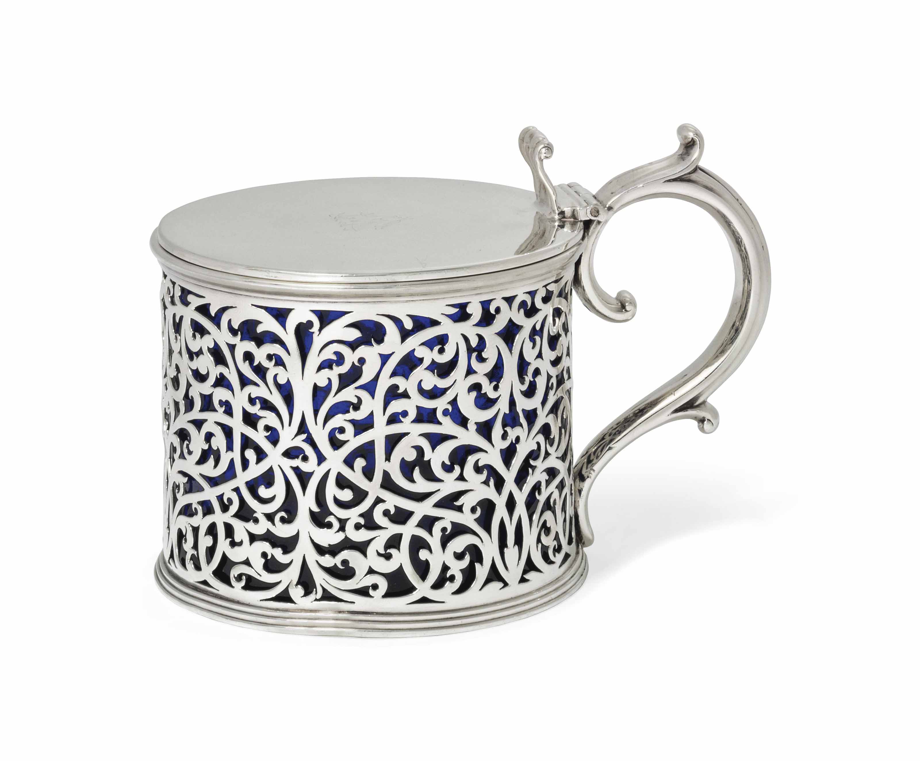 A LARGE WILLIAM IV SILVER MUSTARD OR PRESERVE-POT
